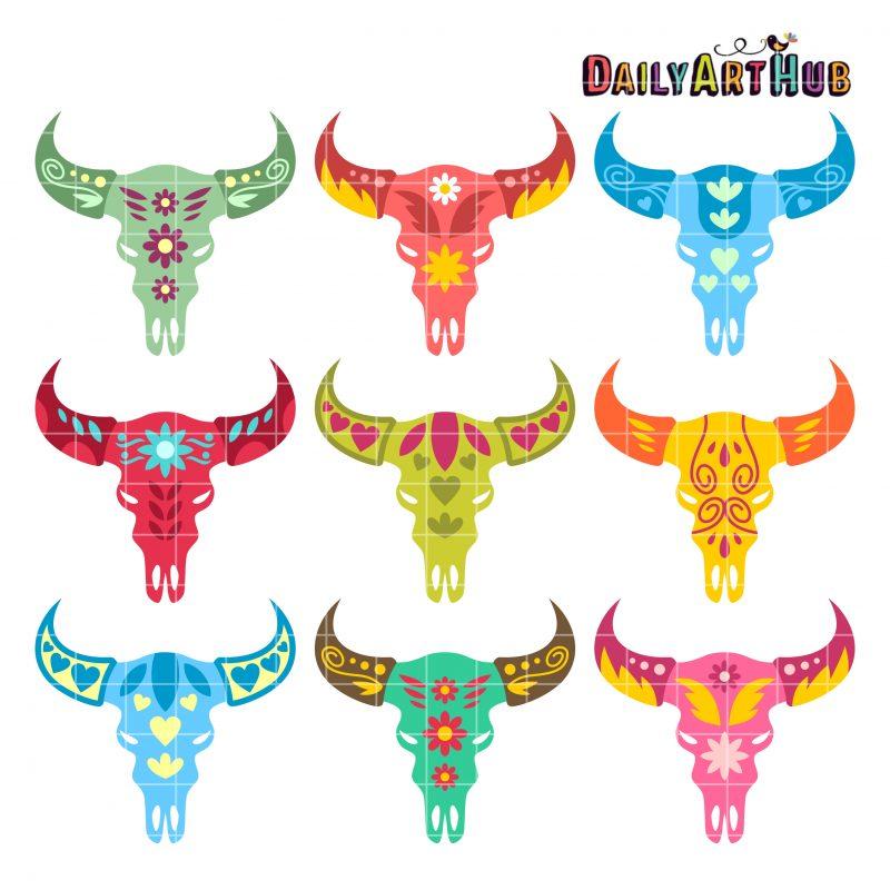 Decorative Animal Skull Heads