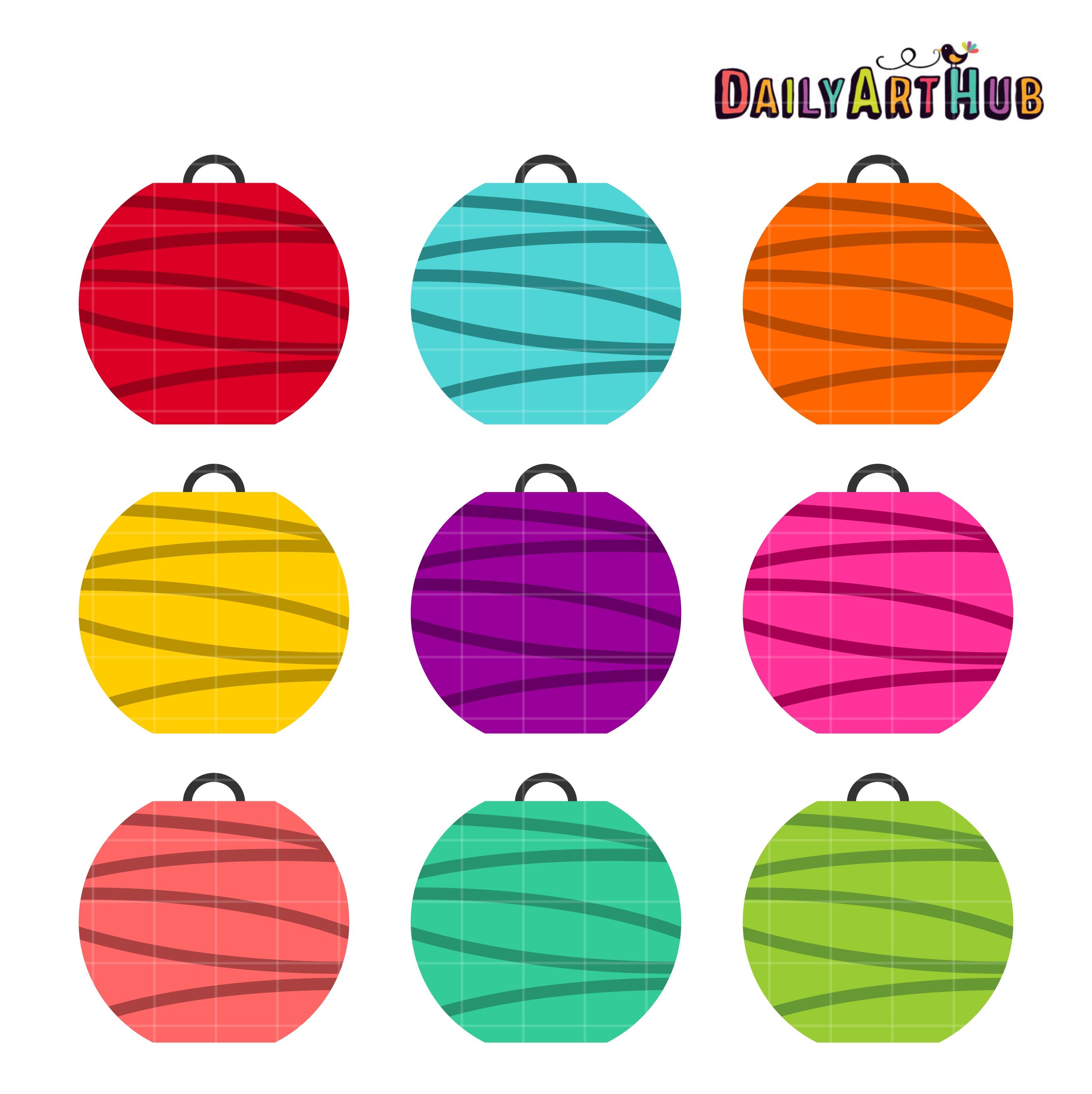 colorful paper lanterns clip art set daily art hub free clip art
