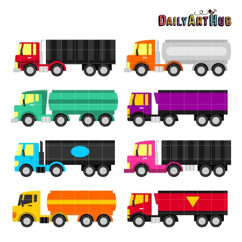 Colorful Trailer Trucks