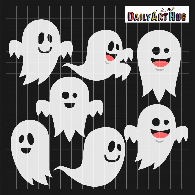 Halloween Funny Ghosts