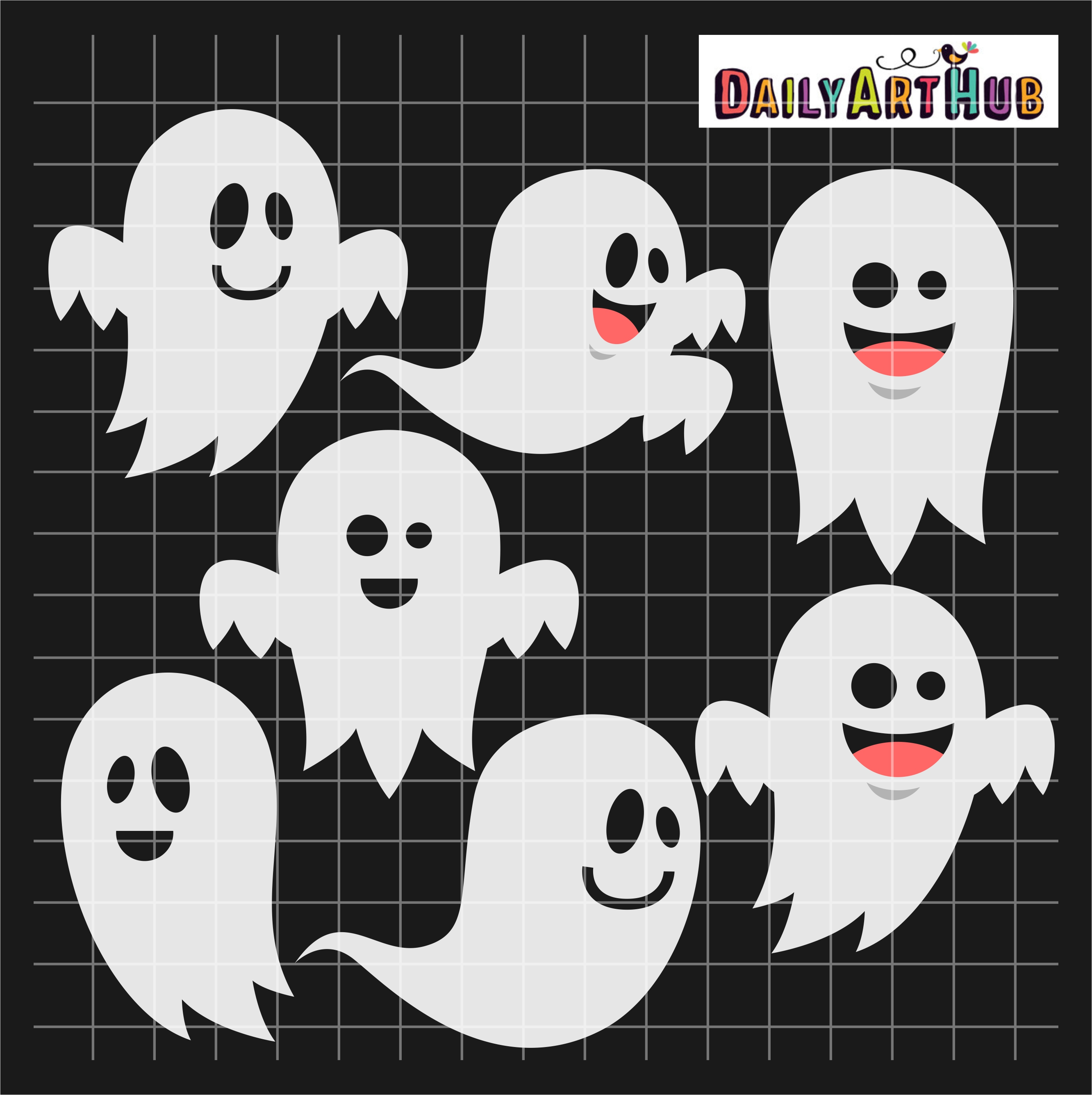 Halloween Funny Ghosts Clip Art Set | Daily Art Hub