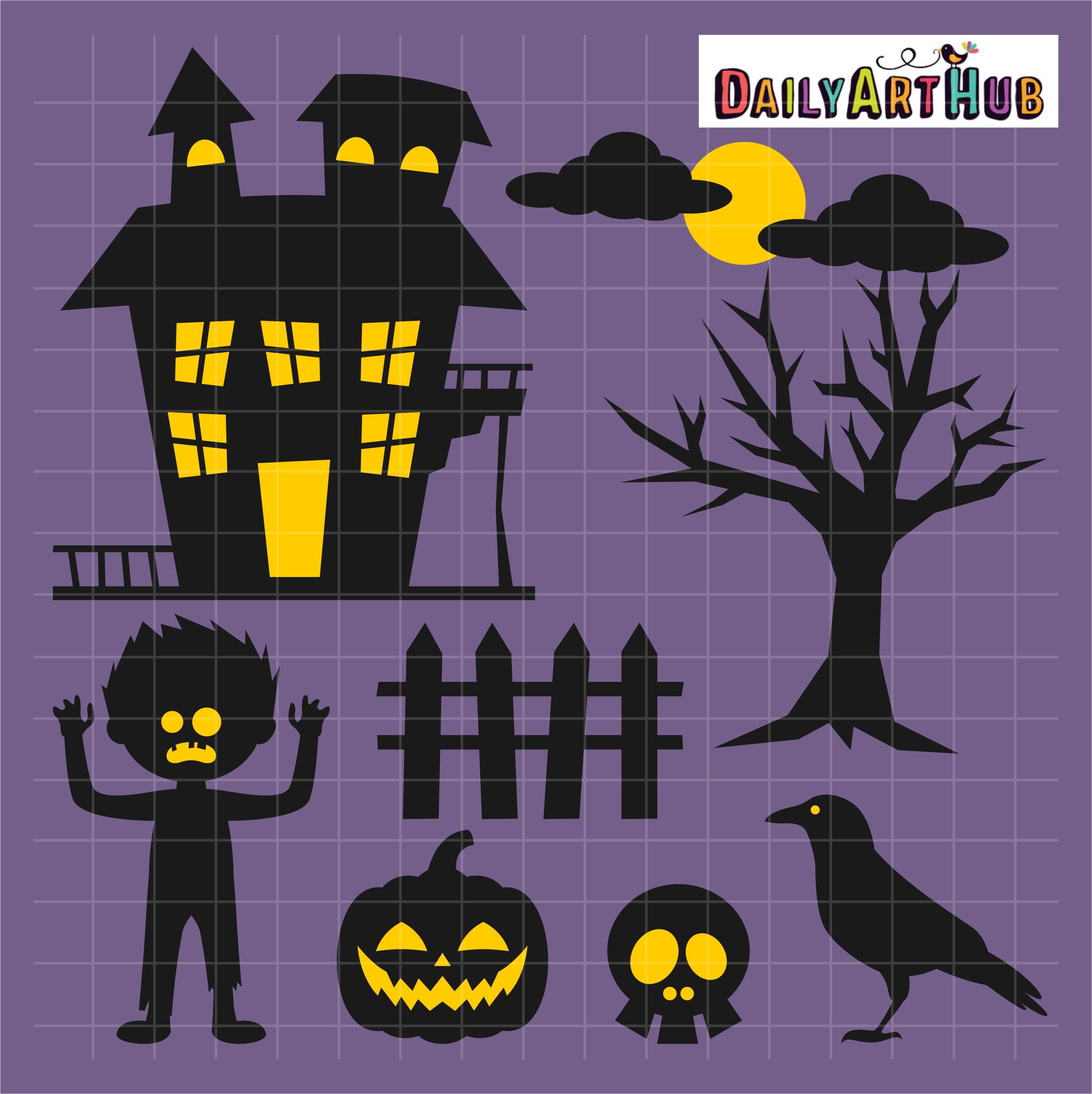 Halloween Haunted House Clip Art Set – Daily Art Hub ...