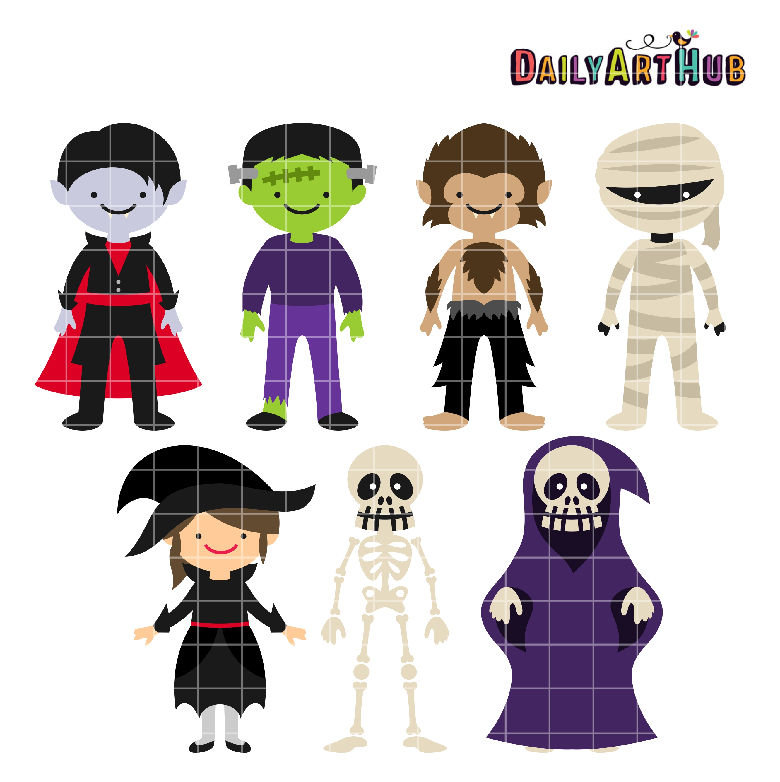 Halloween Monsters Clip Art Set – Daily Art Hub – Free Clip Art ...