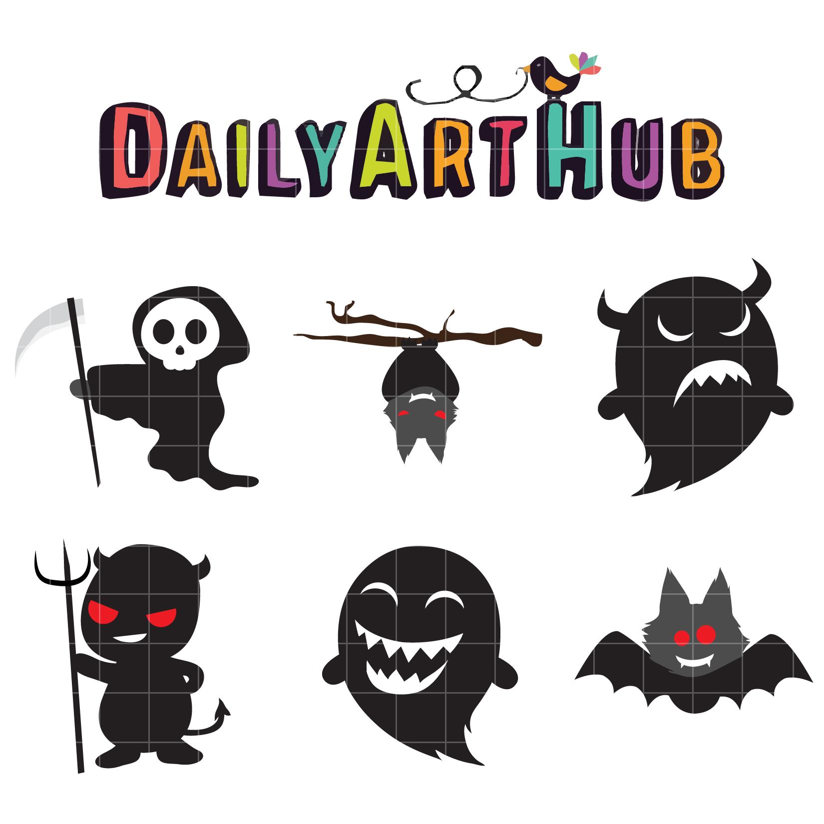 Spooky Halloween Clip Art Set | Daily Art Hub