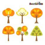 Autumn Abstract Trees