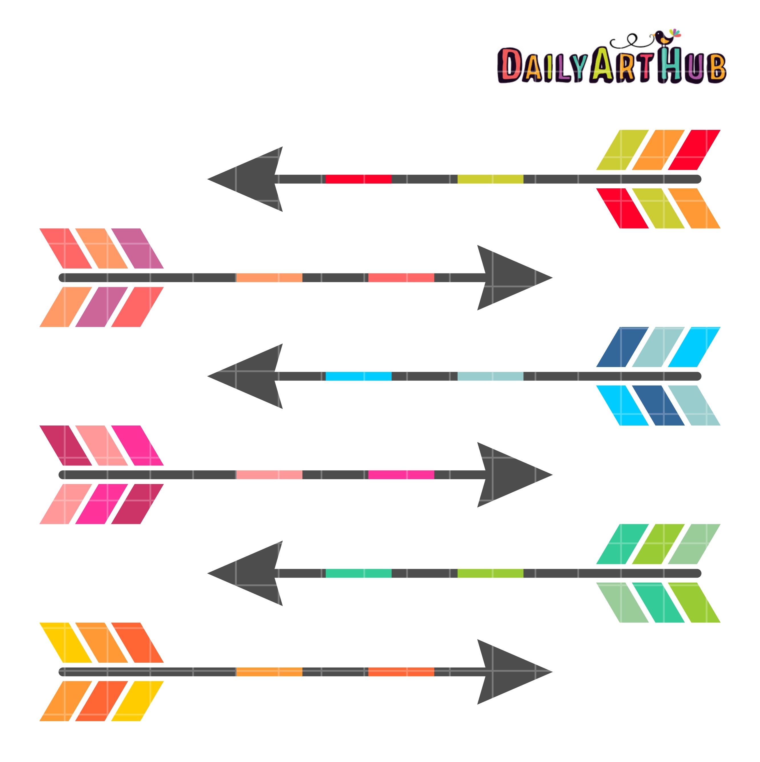 Colorful Arrows Clip Art Set – Daily Art Hub – Free Clip ...