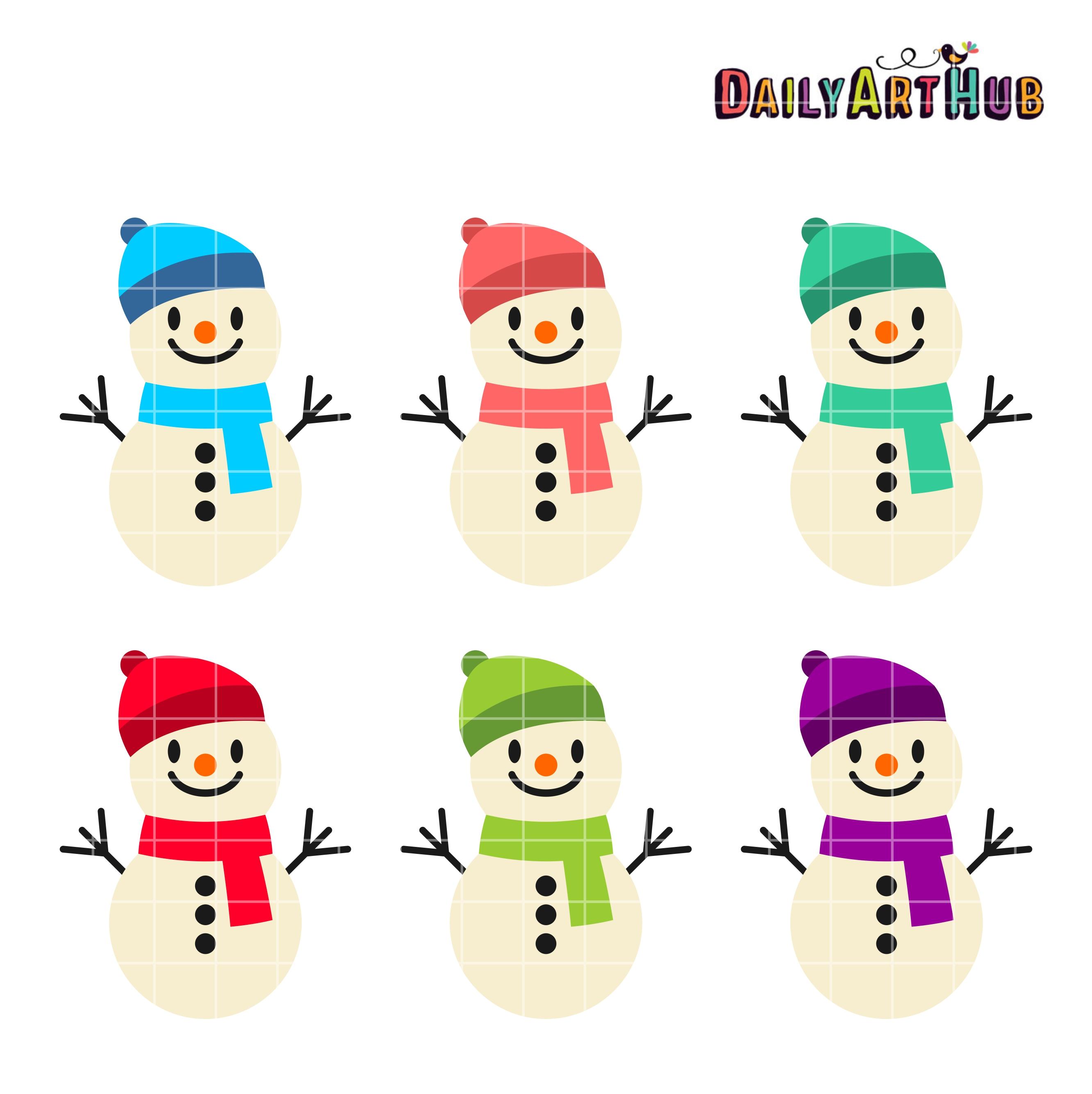funny cute snowmen clip art set daily art hub free clip art everyday rh dailyarthub com snowman clipart black and white snowman clipart to print