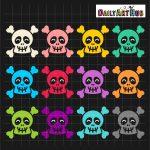 Halloween Happy Skulls
