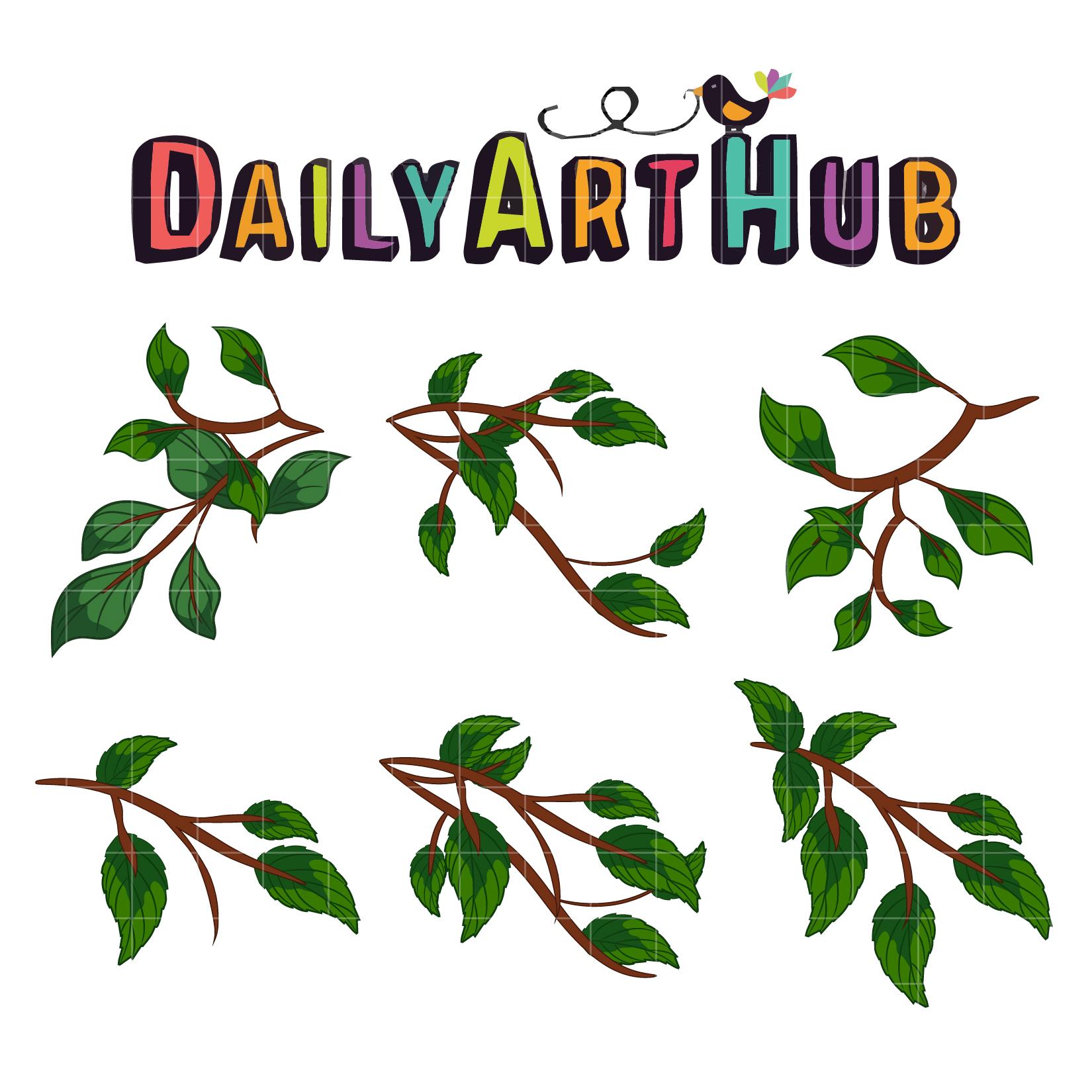 Tree Branches Clip Art Set – Daily Art Hub – Free Clip Art ...