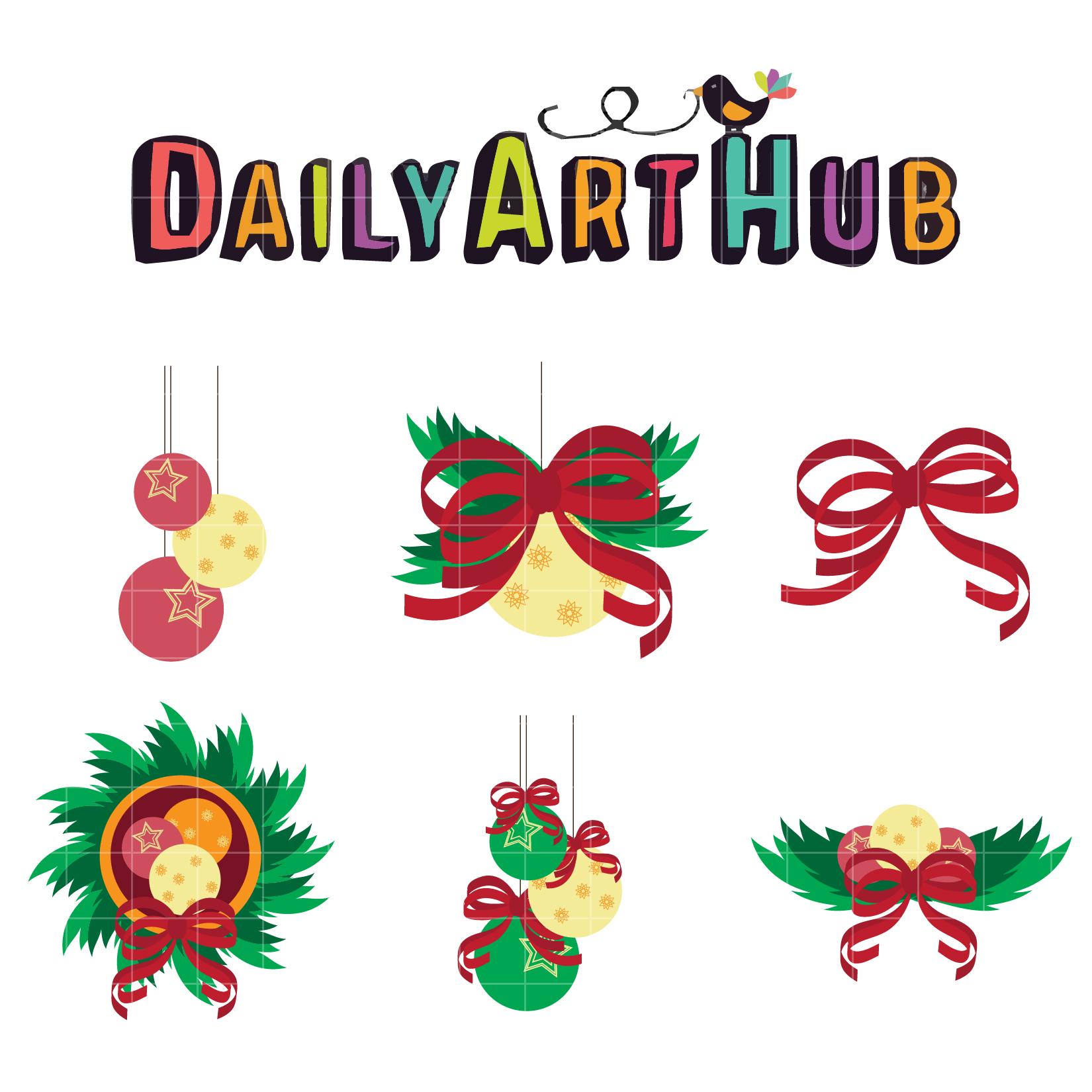 Christmas Decors Clip Art Set