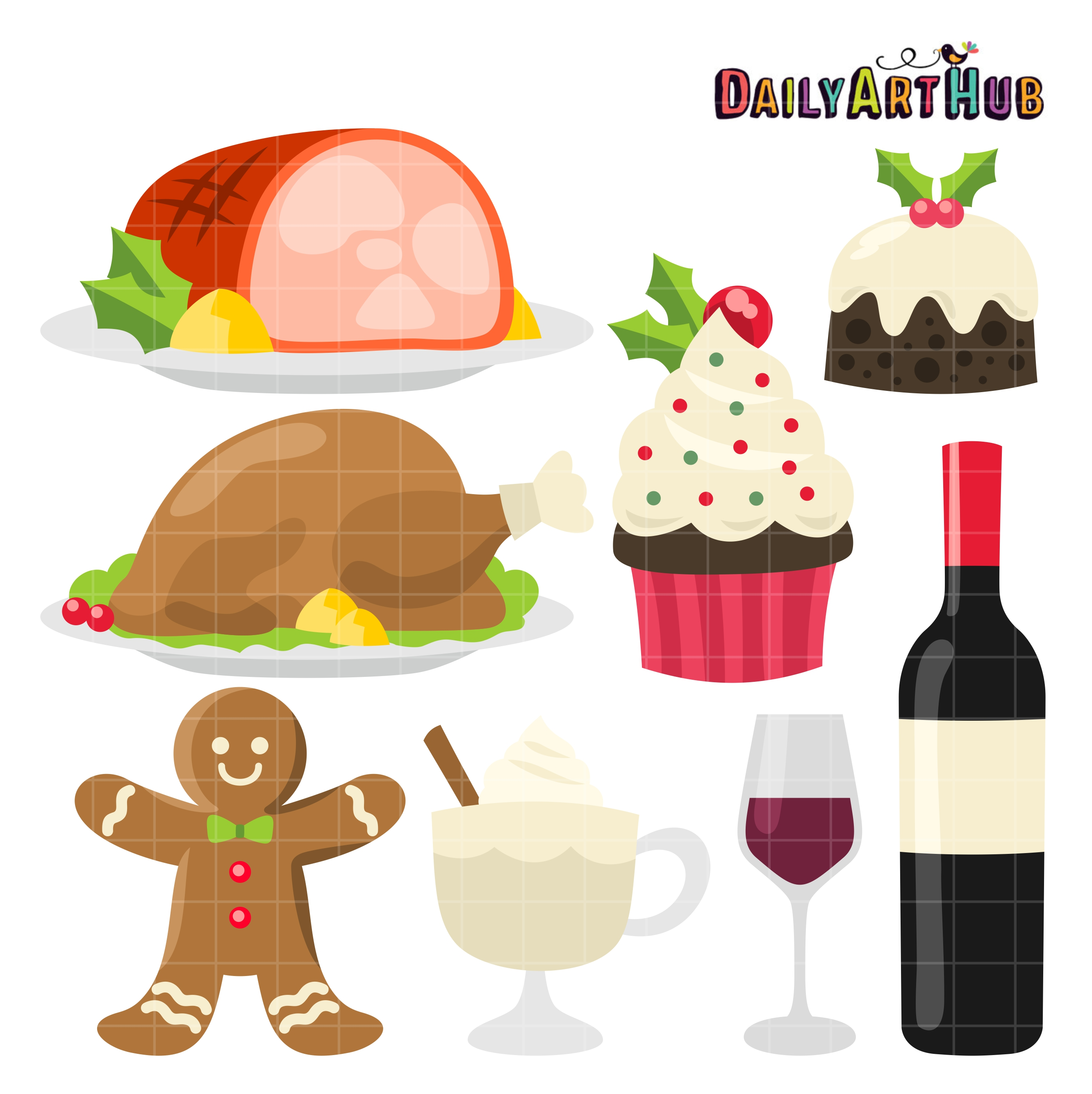 Christmas Foods Clip Art Set Daily Art Hub Free Clip Art Everyday
