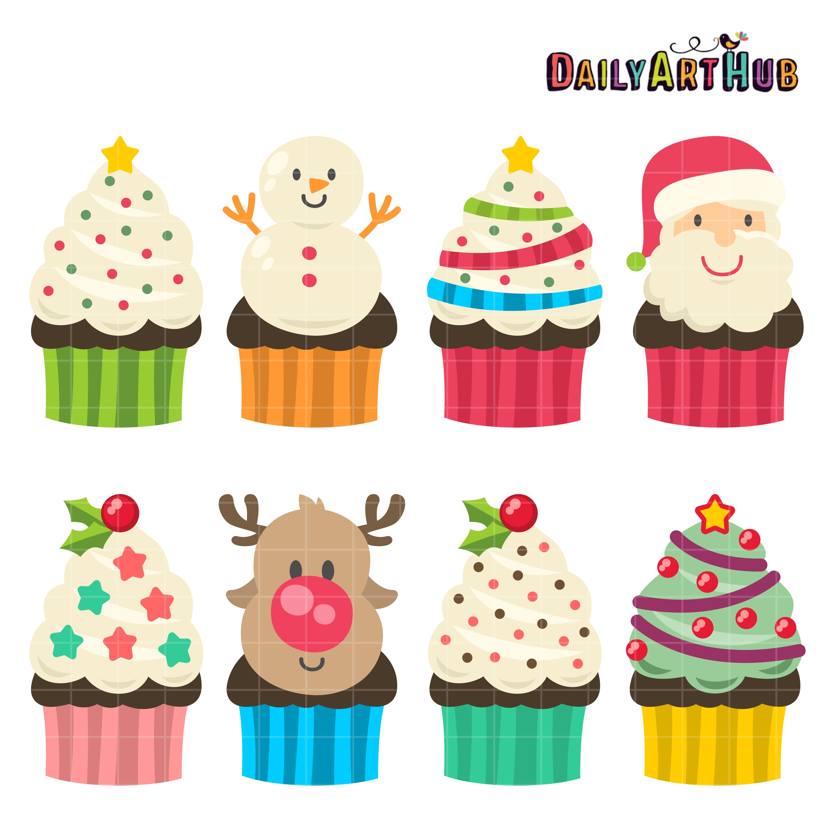 christmas yummy cupcakes clip art set daily art hub Bake Sale Items Clip Art Bake Sale Cake Cliparts