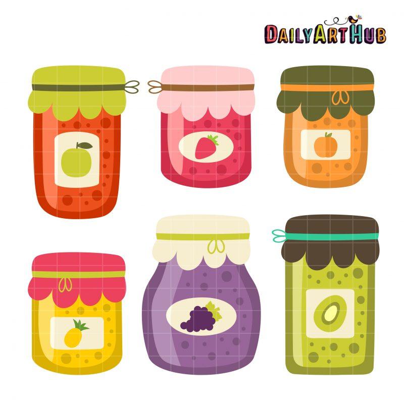 Fruit Jam Jars