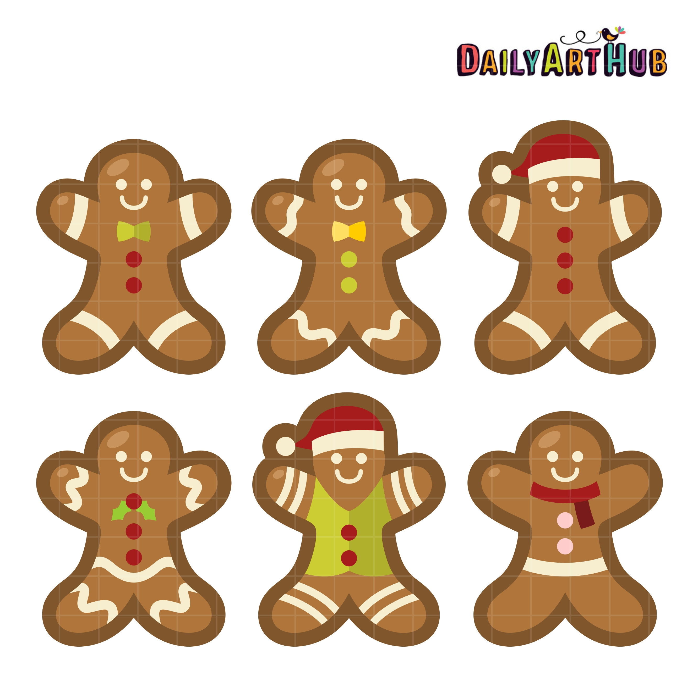 yummy gingerbread man clip art set daily art hub free clip art rh dailyarthub com gingerbread man border clipart gingerbread man clip art free
