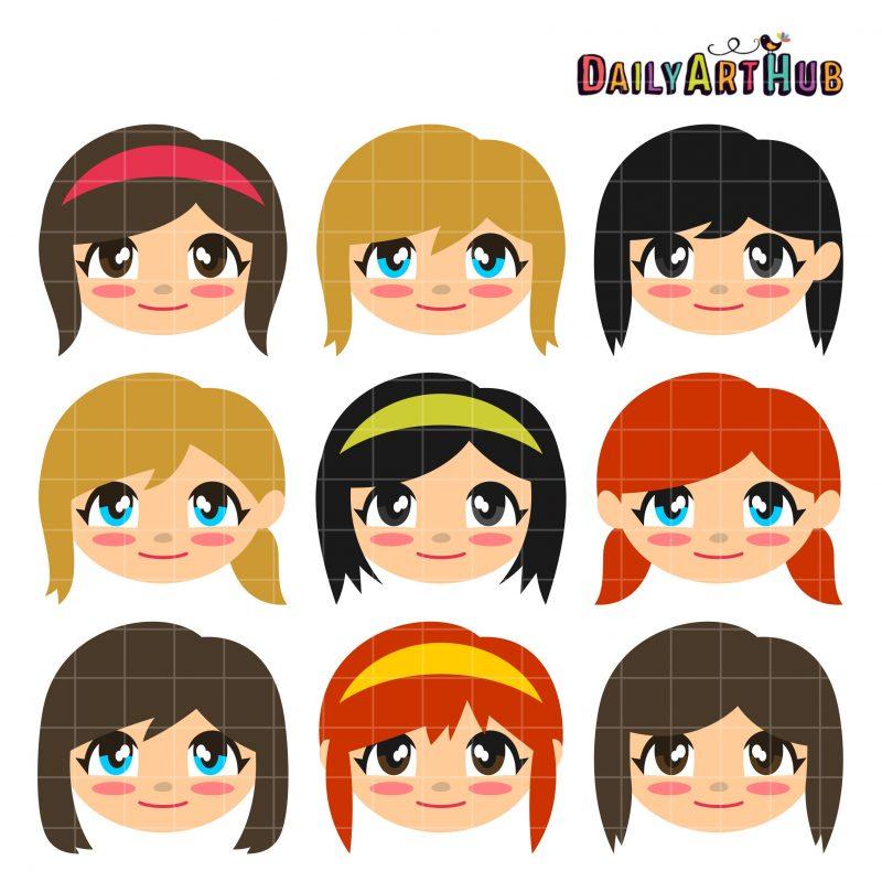 Chibi Girl Faces