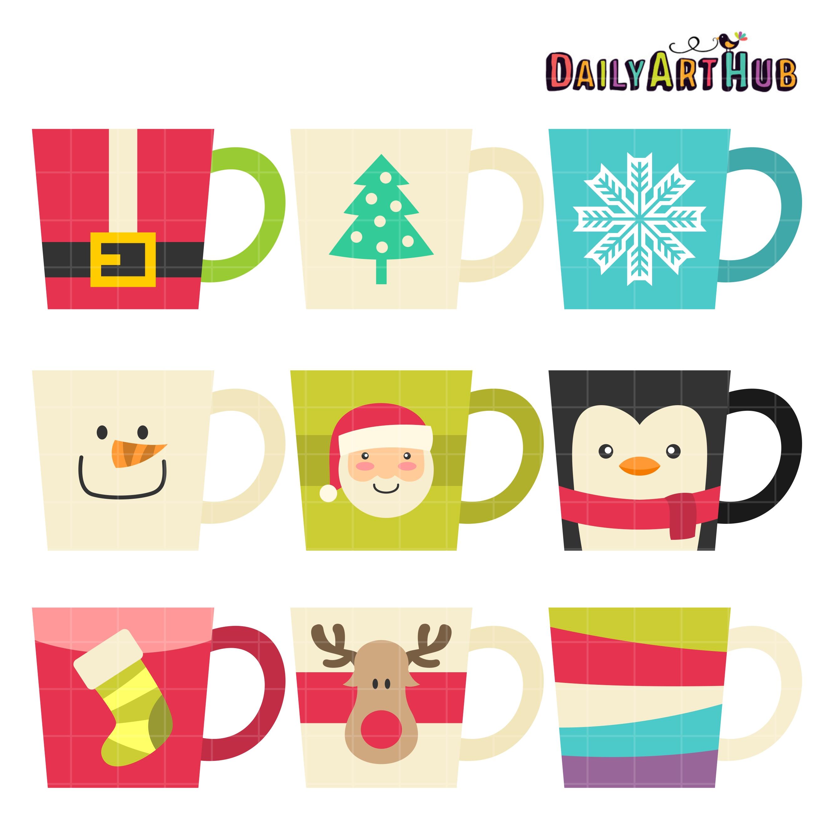 christmas mug clipart. christmas coffee mugs mug clipart c