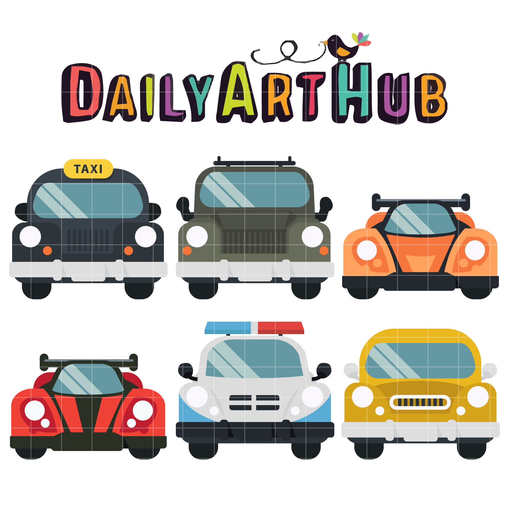 Land Transportation Clip Art Set – Daily Art Hub – Free ...