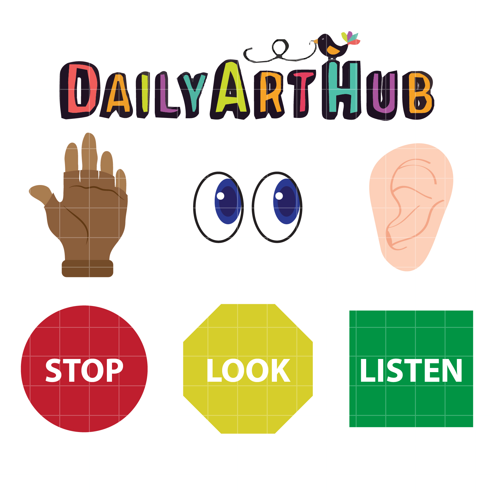 stop look and listen clip art set daily art hub free clip art rh dailyarthub com look clipart images look clipart black and white