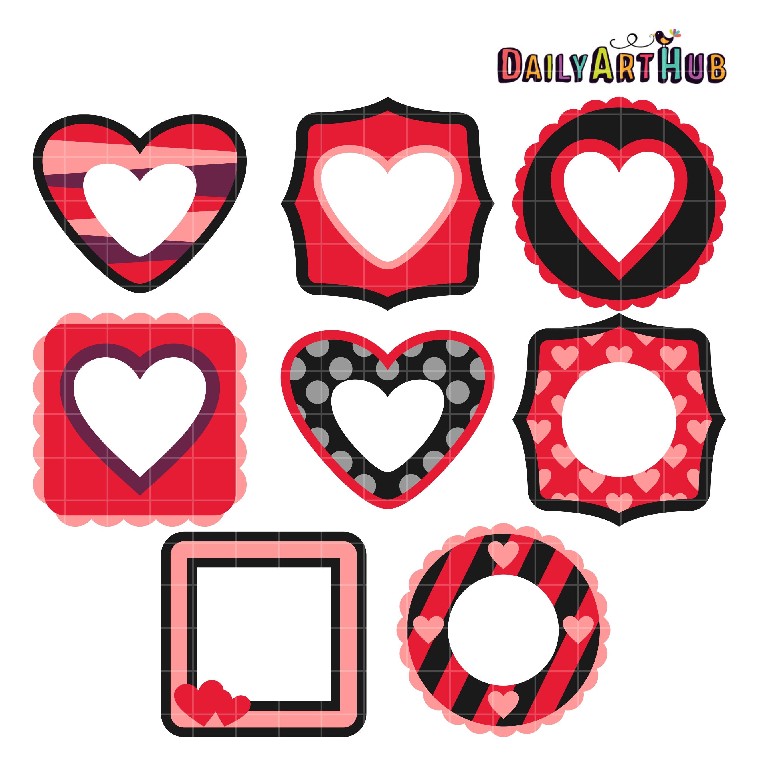 Valentines Day Frames Clip Art Set – Daily Art Hub – Free Clip Art ...