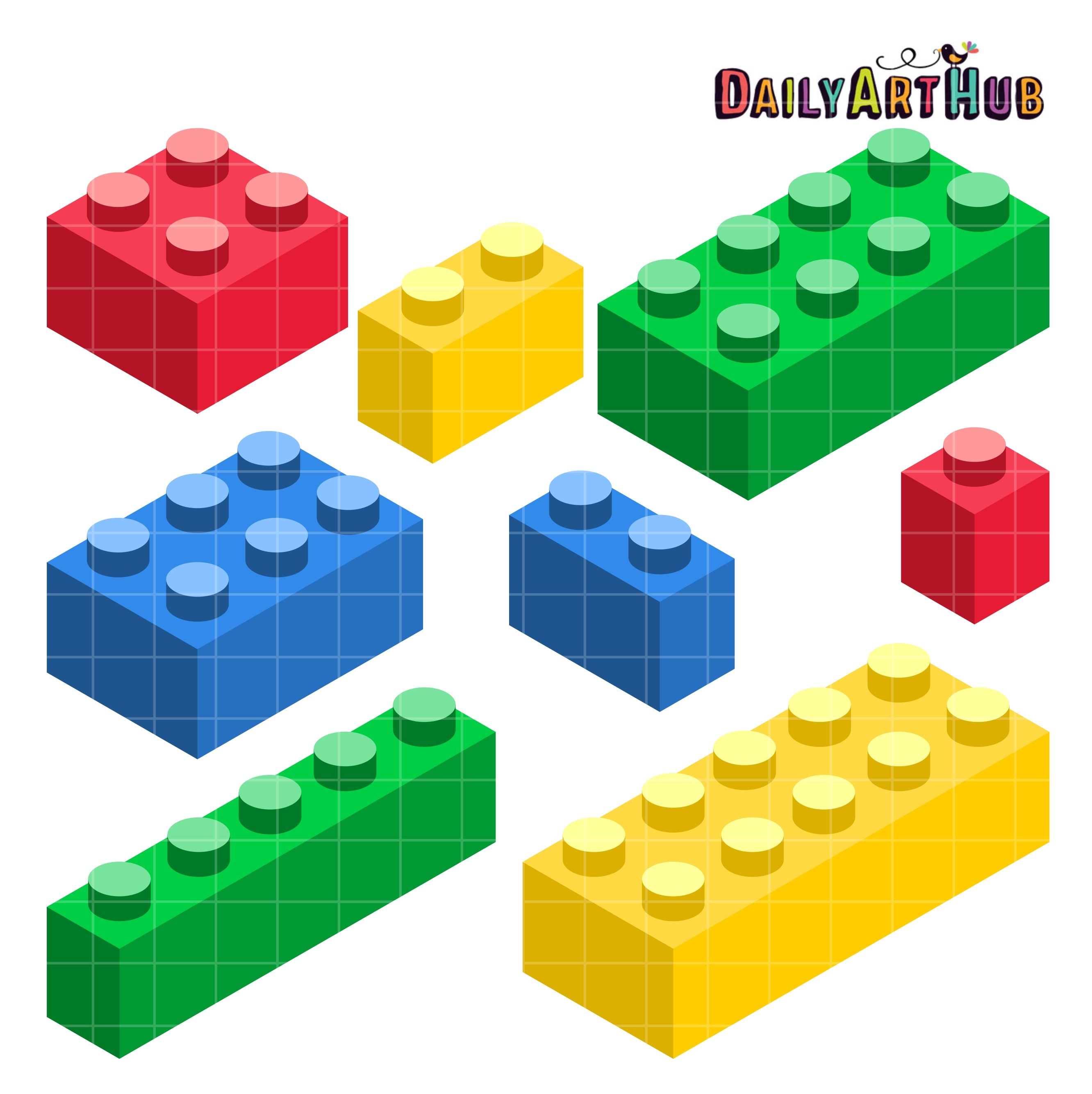 Building Blocks Of Art : Building blocks clip art set daily hub free