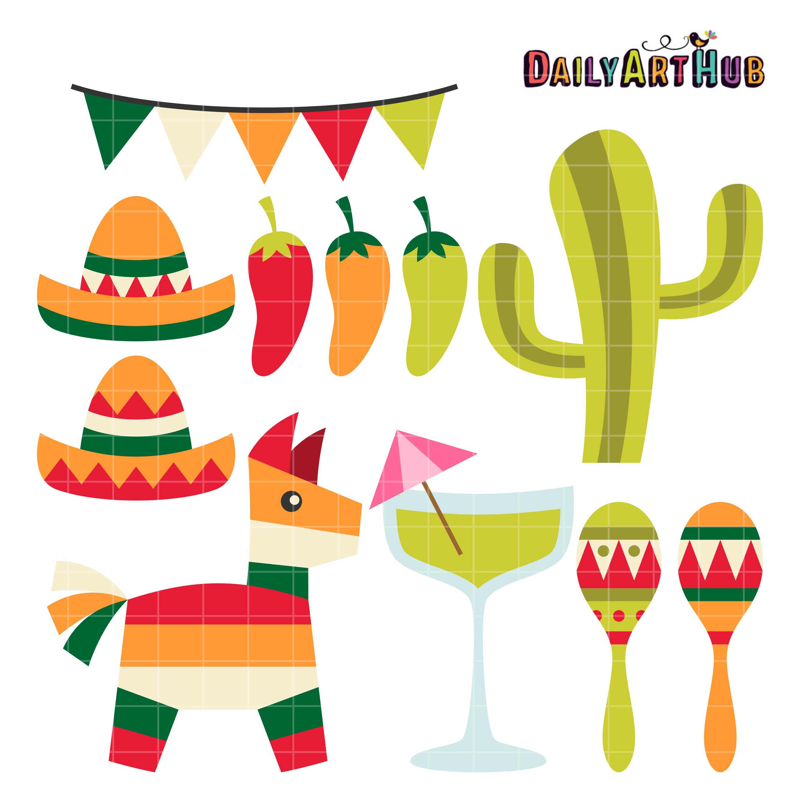 Cinco De Mayo Fiesta Clip Art Set Daily Art Hub Free Clip Art