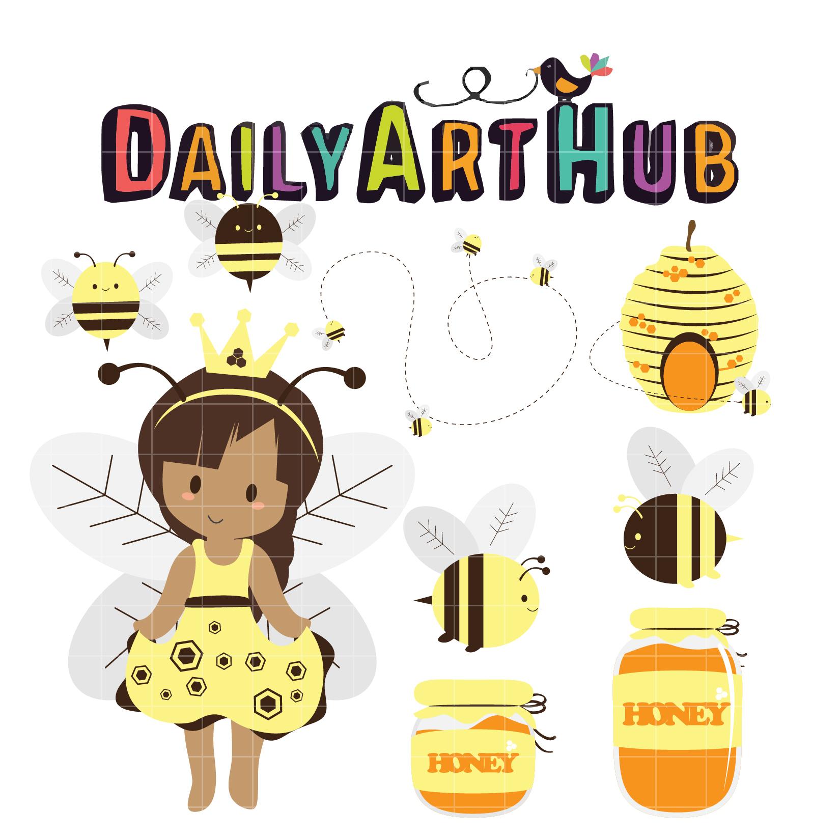 Cute Queen Bee Clip Art Set – Daily Art Hub – Free Clip ...