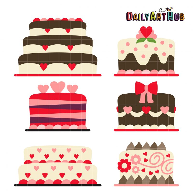 Hearts Day Theme Cakes