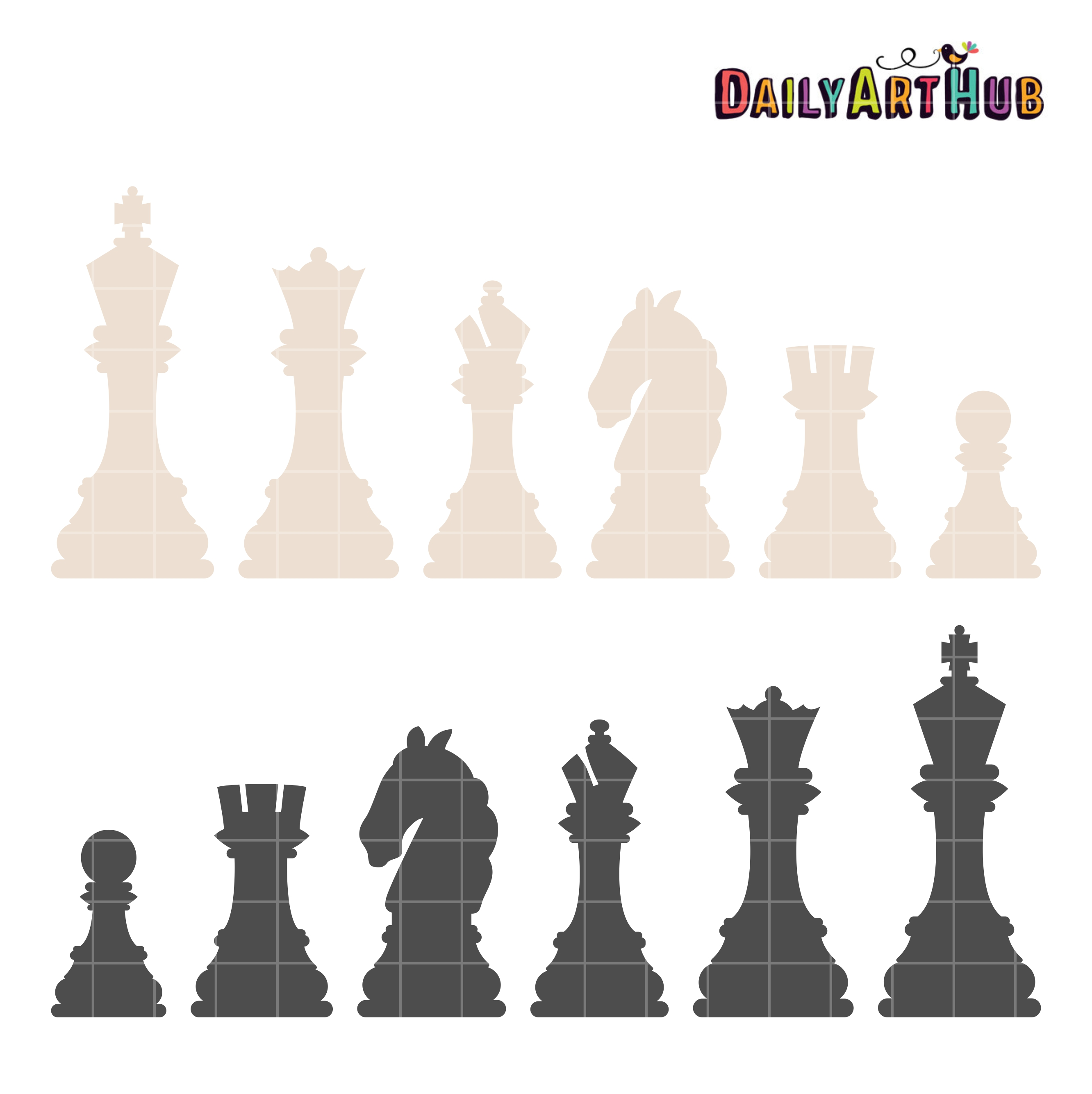 chess pieces clip art set � daily art hub � free clip art