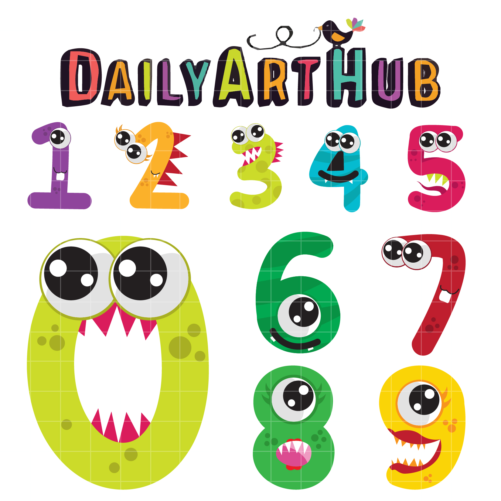 cute monster numbers clip art set daily art hub free clip art rh dailyarthub com numbers clipart free download clipart numbers free