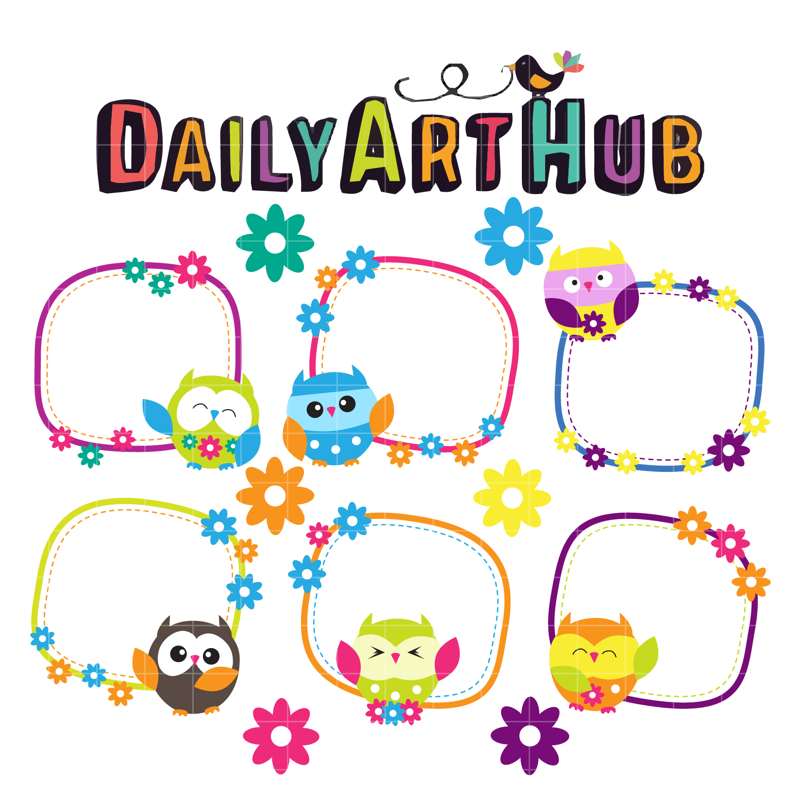 Cute Owl Cards Clip Art Set – Daily Art Hub – Free Clip ...