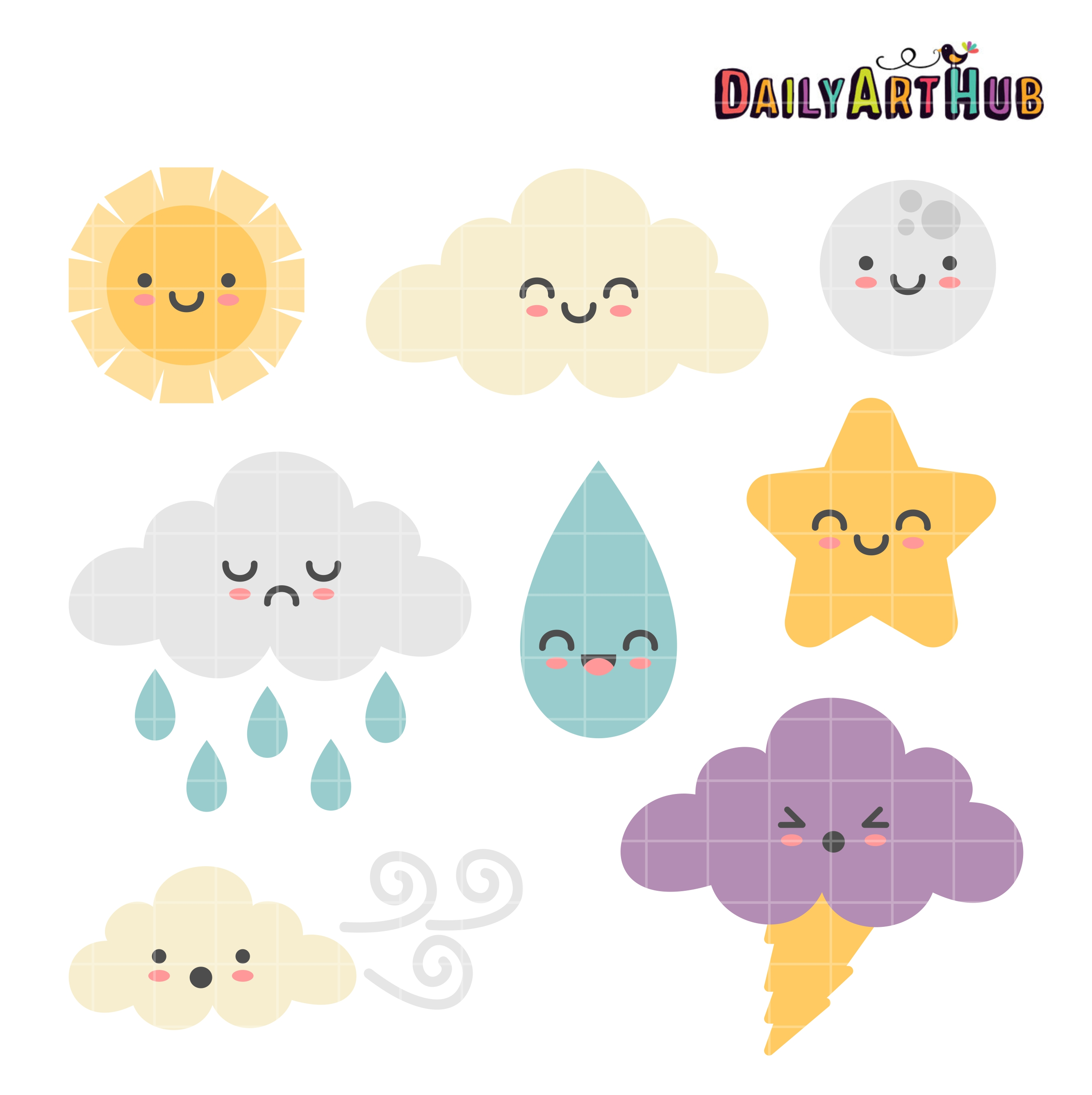 cute weather clip art set daily art hub free clip art everyday rh dailyarthub com weather clipart pdf weather clipart for teachers