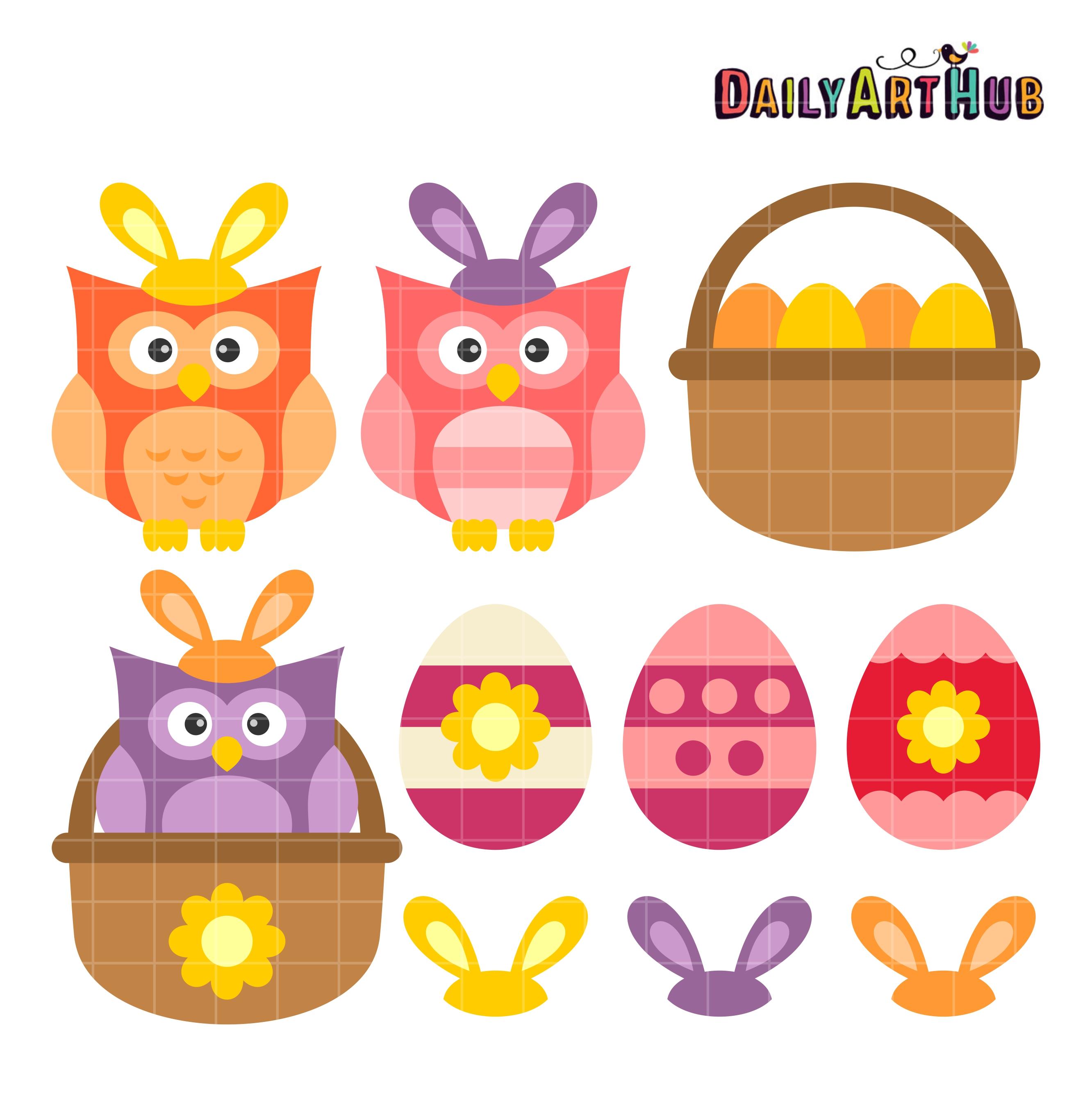 Easter Owls Clip Art Set – Daily Art Hub – Free Clip Art ...