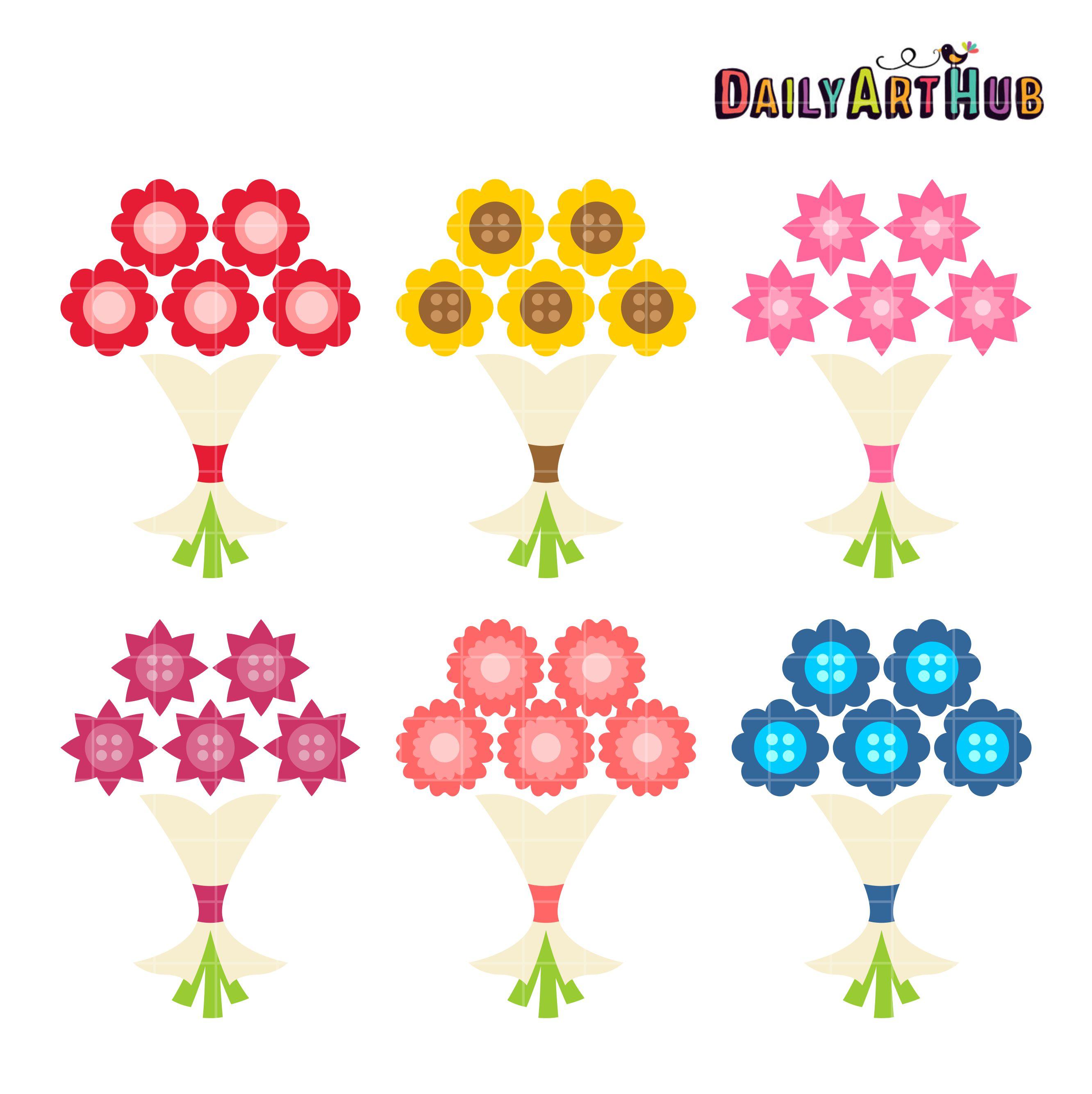 Simple Flower Bouquet Clip Art Set – Daily Art Hub – Free Clip Art ...
