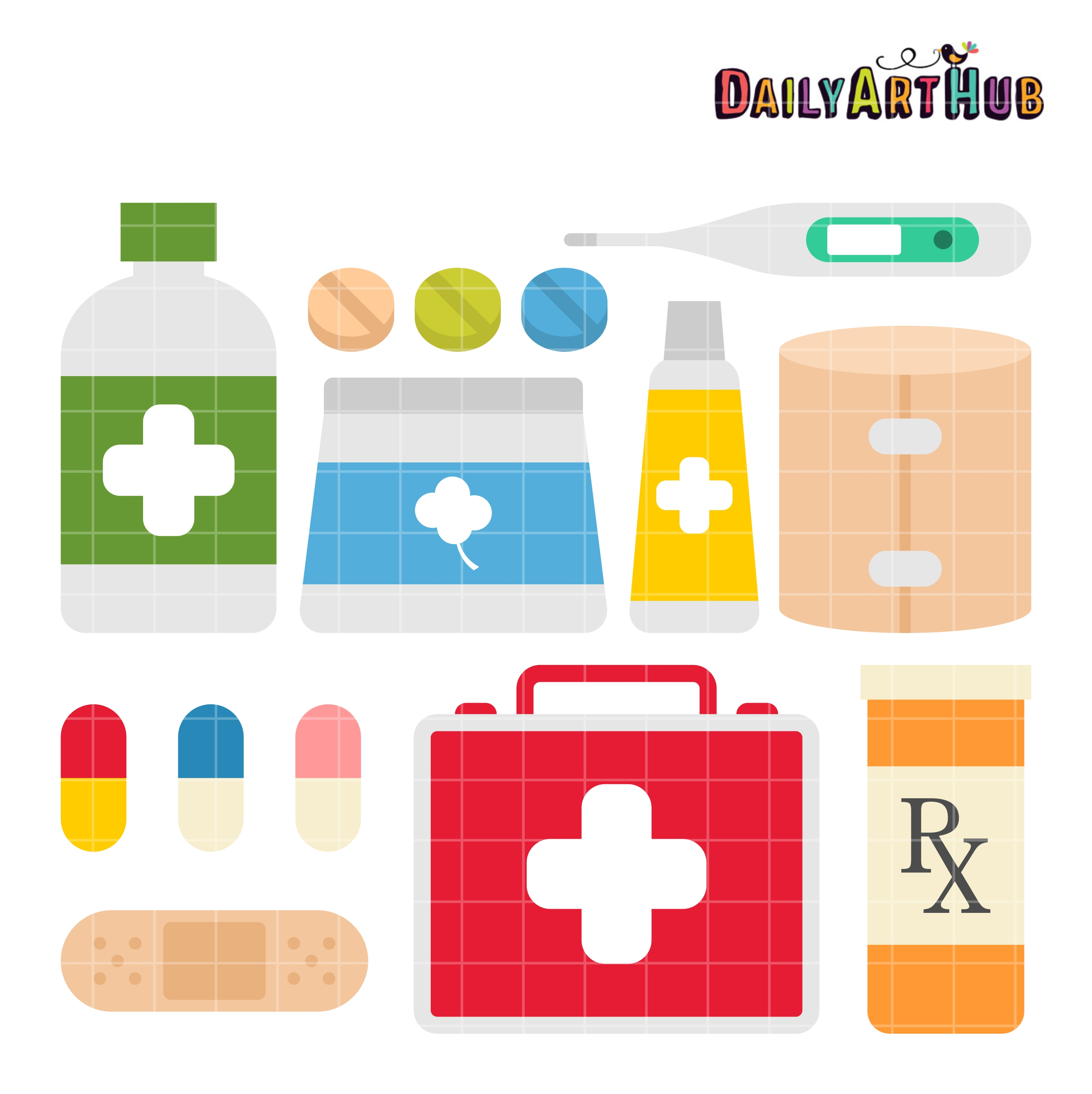 first aid kit clip art set daily art hub free clip art everyday rh dailyarthub com first aid clipart images first aid clipart images