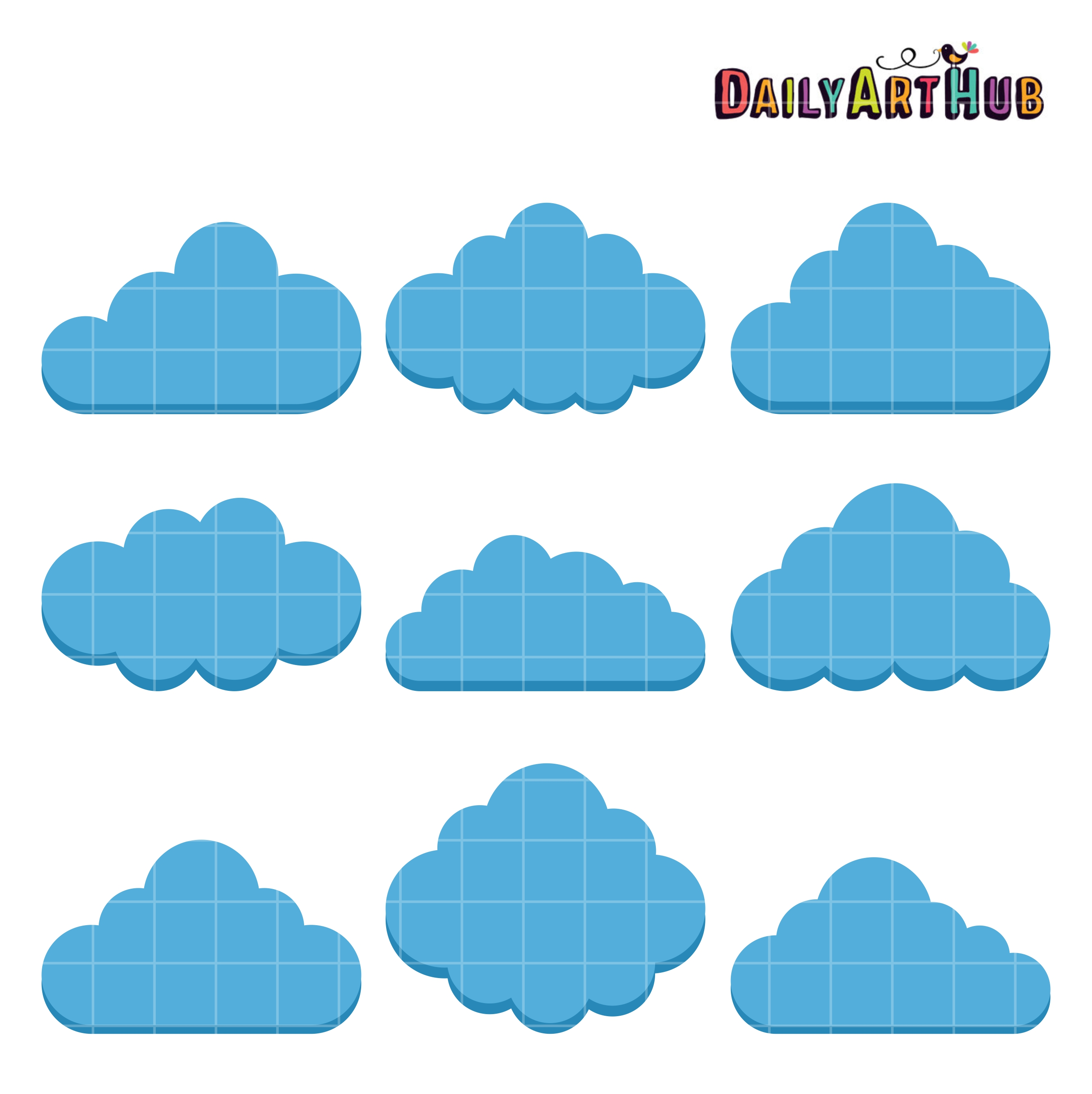 Cloud shapes clip art set daily art hub free clip art everyday - Circular house plans shapes from nature ...