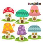 Colorful Mushroom Houses