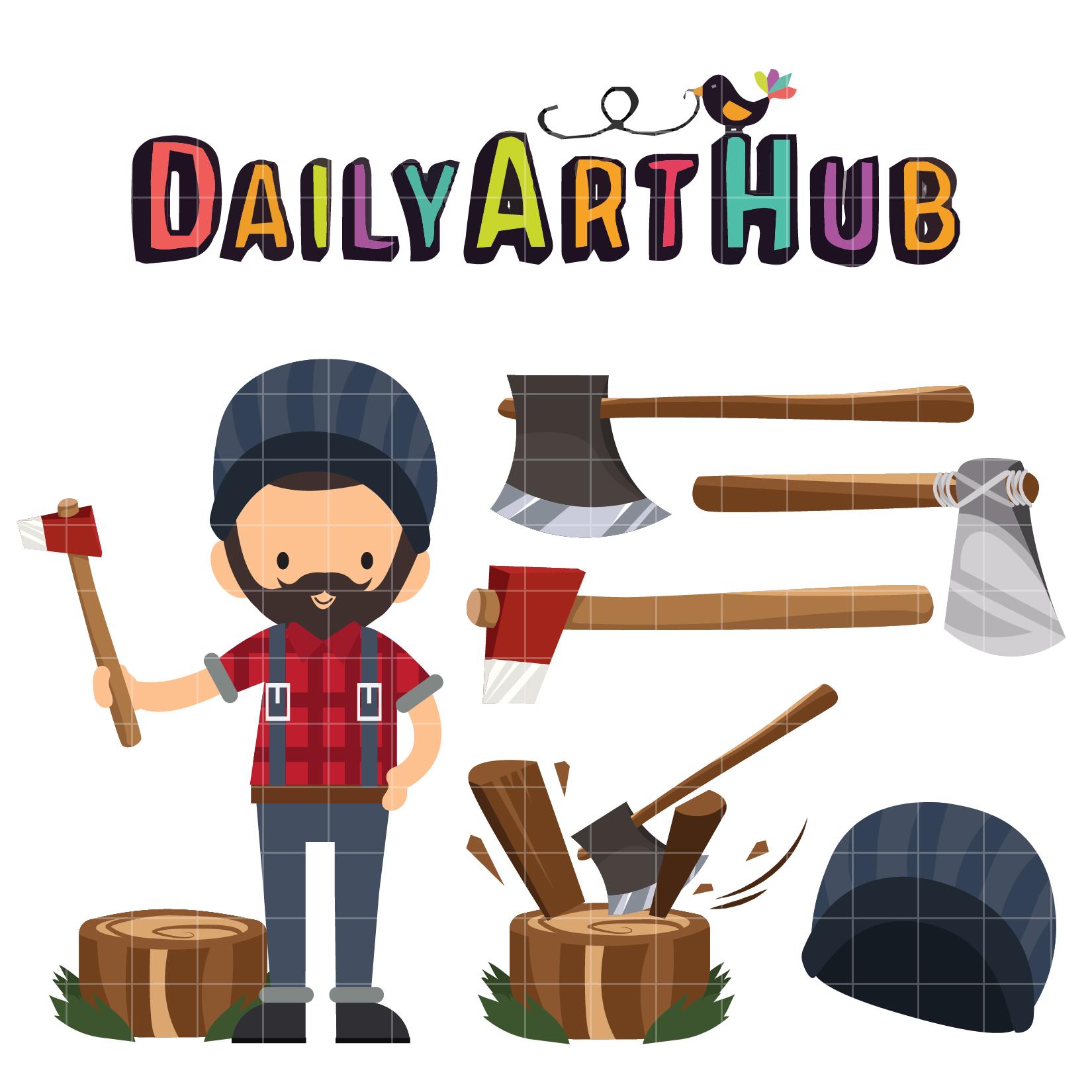 Lumberjack Clip Art Set – Daily Art Hub – Free Clip Art ...