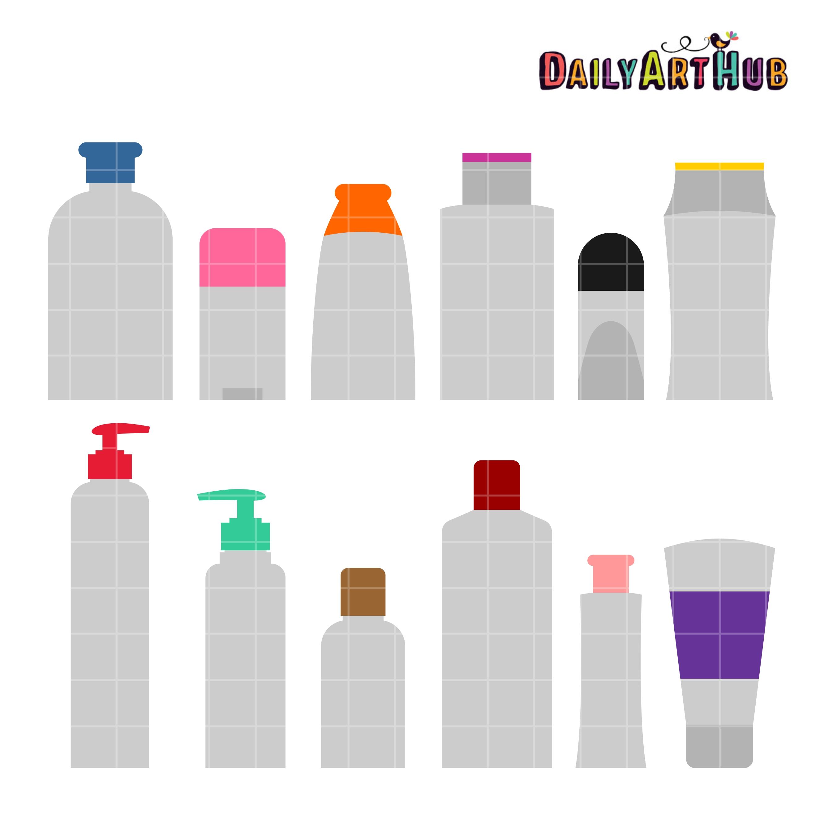 Toiletries Bottle Shapes Clip Art Set – Daily Art Hub – Free Clip Art Everyday