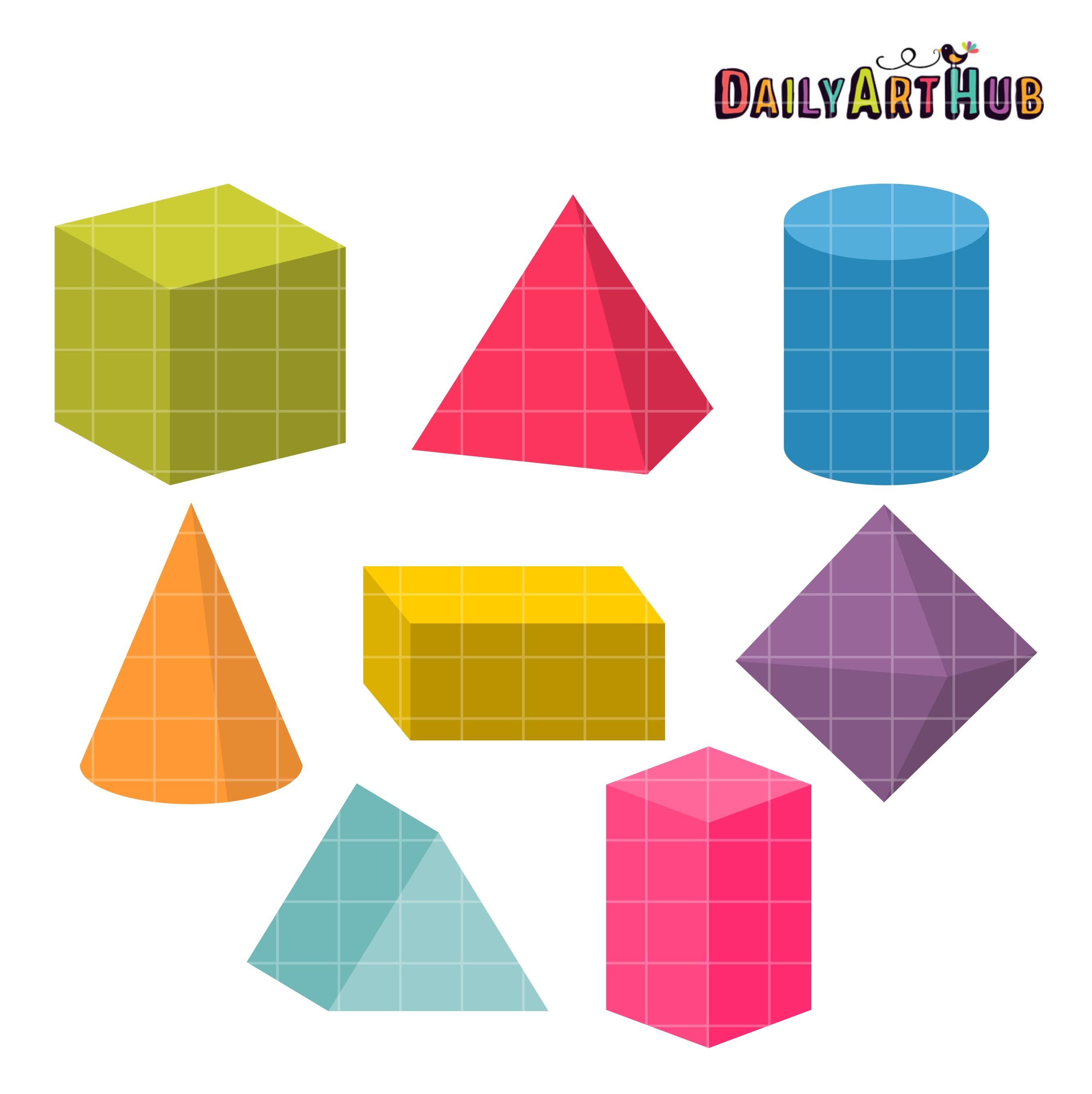 3D Shape Cliparts | Free Download Clip Art | Free Clip Art | On ...