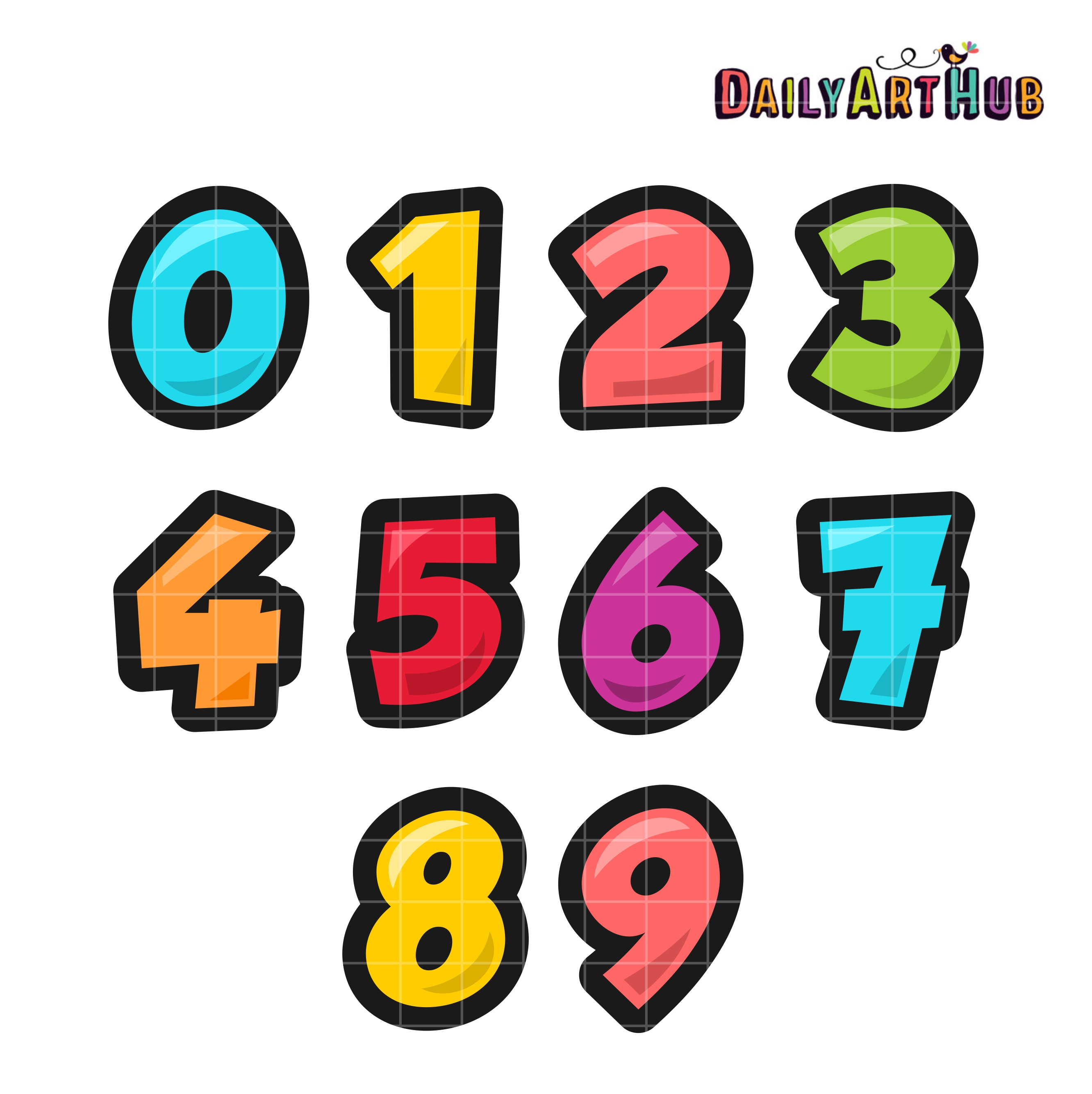 Colorful Numbers Clip Art Set – Daily Art Hub – Free Clip ...
