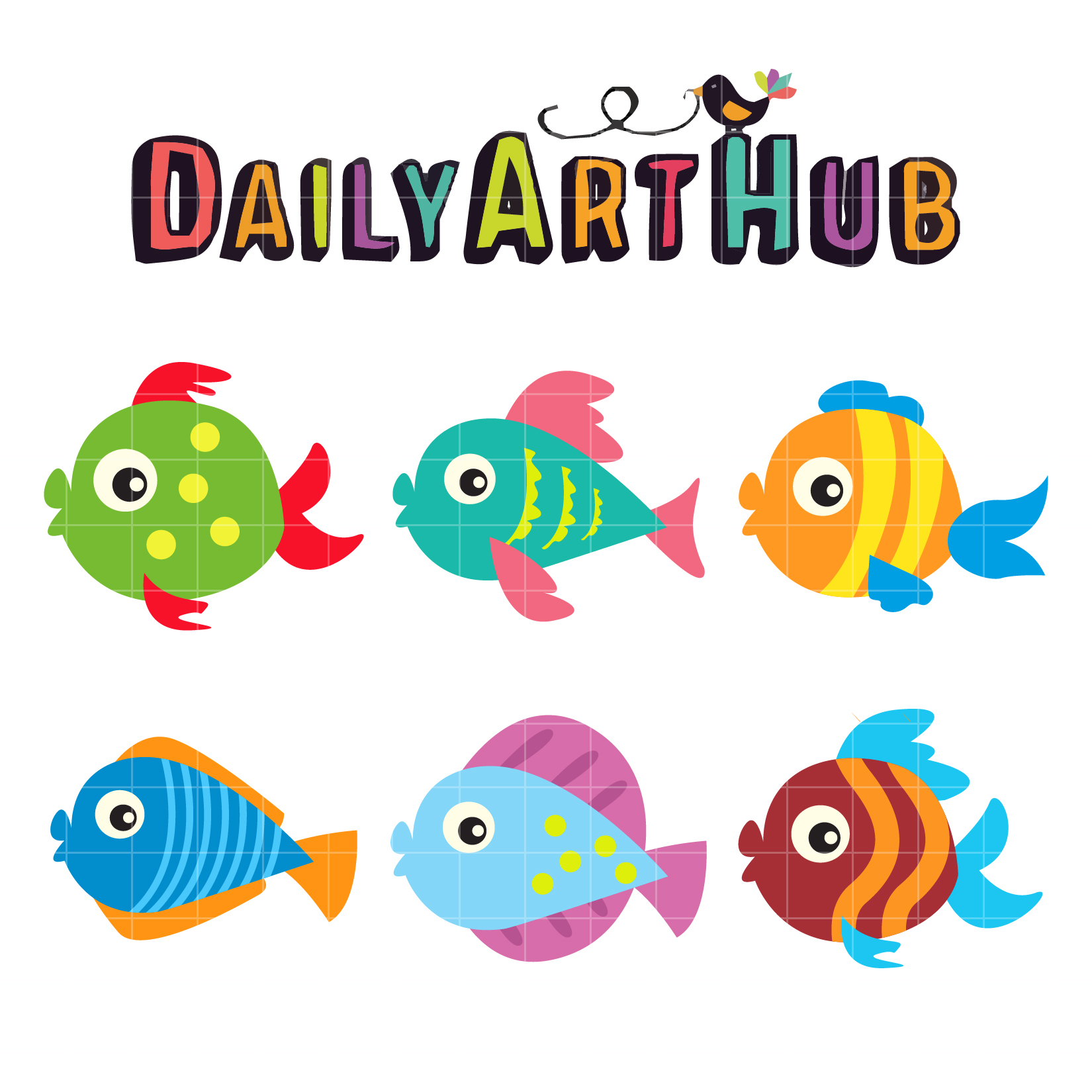 cute fish clip art set daily art hub free clip art everyday rh dailyarthub com cute jellyfish clipart funny fish clipart