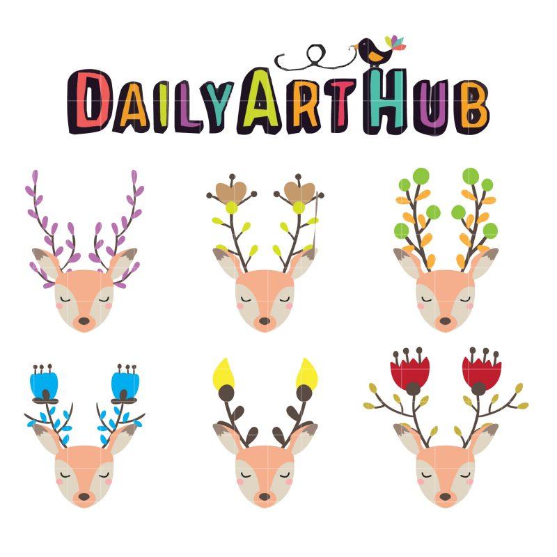Deer Flower Horns
