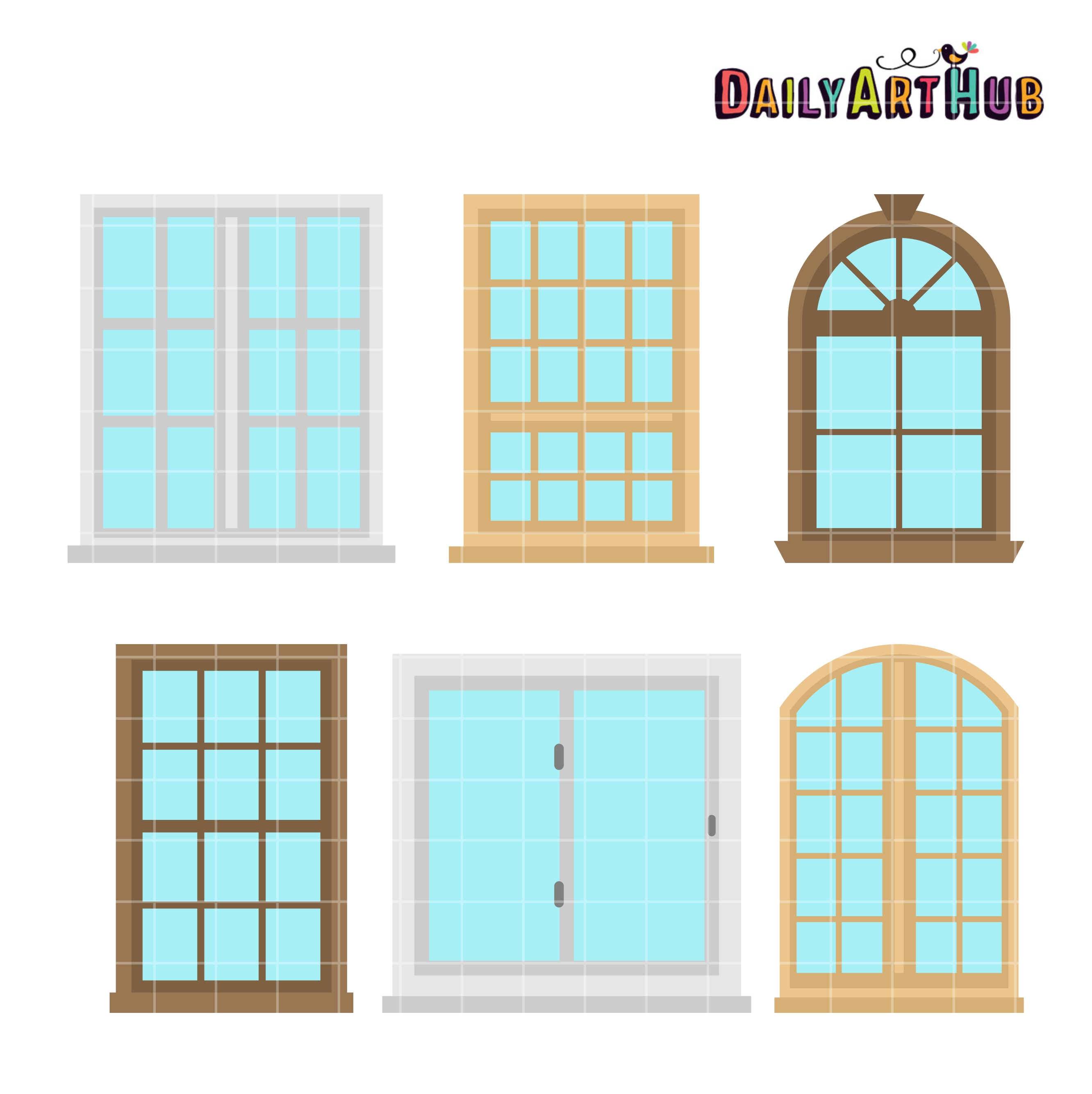 House windows clip art set daily art hub for Windows for your home