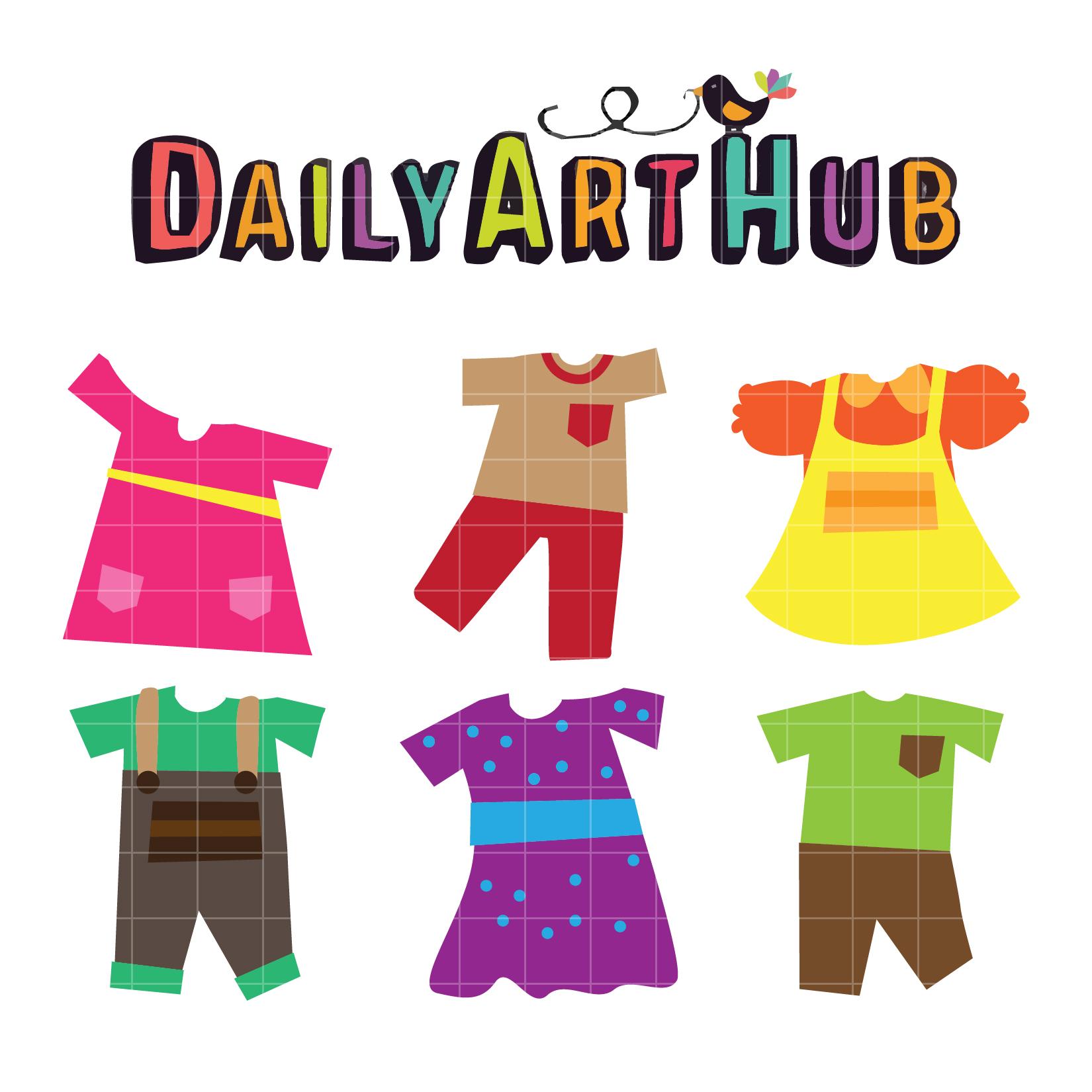 Kids Dress Clip Art Set – Daily Art Hub – Free Clip Art ...