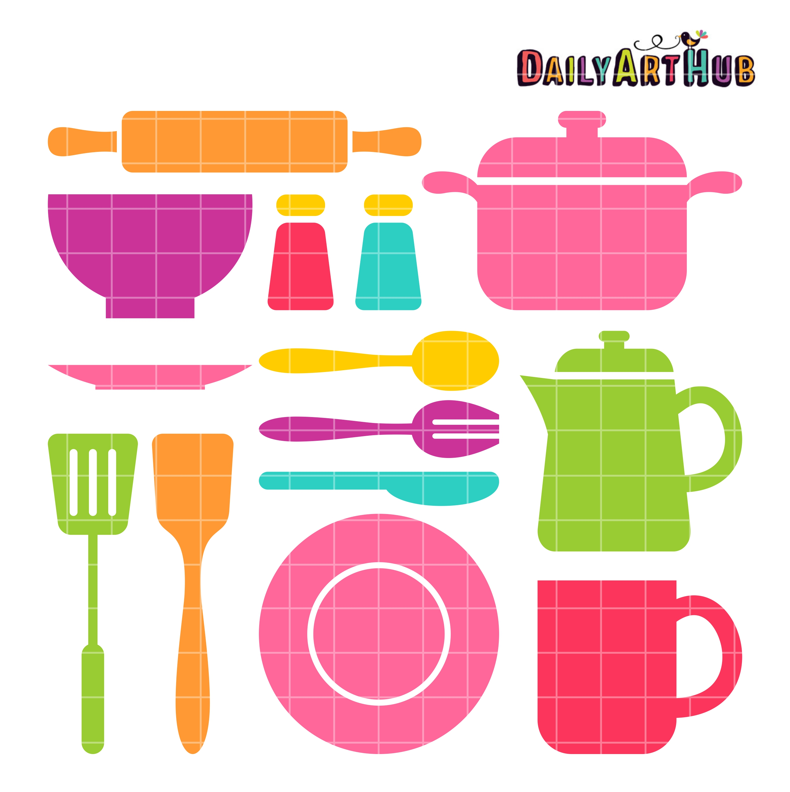 Kitchen Stuff Clip Art Set