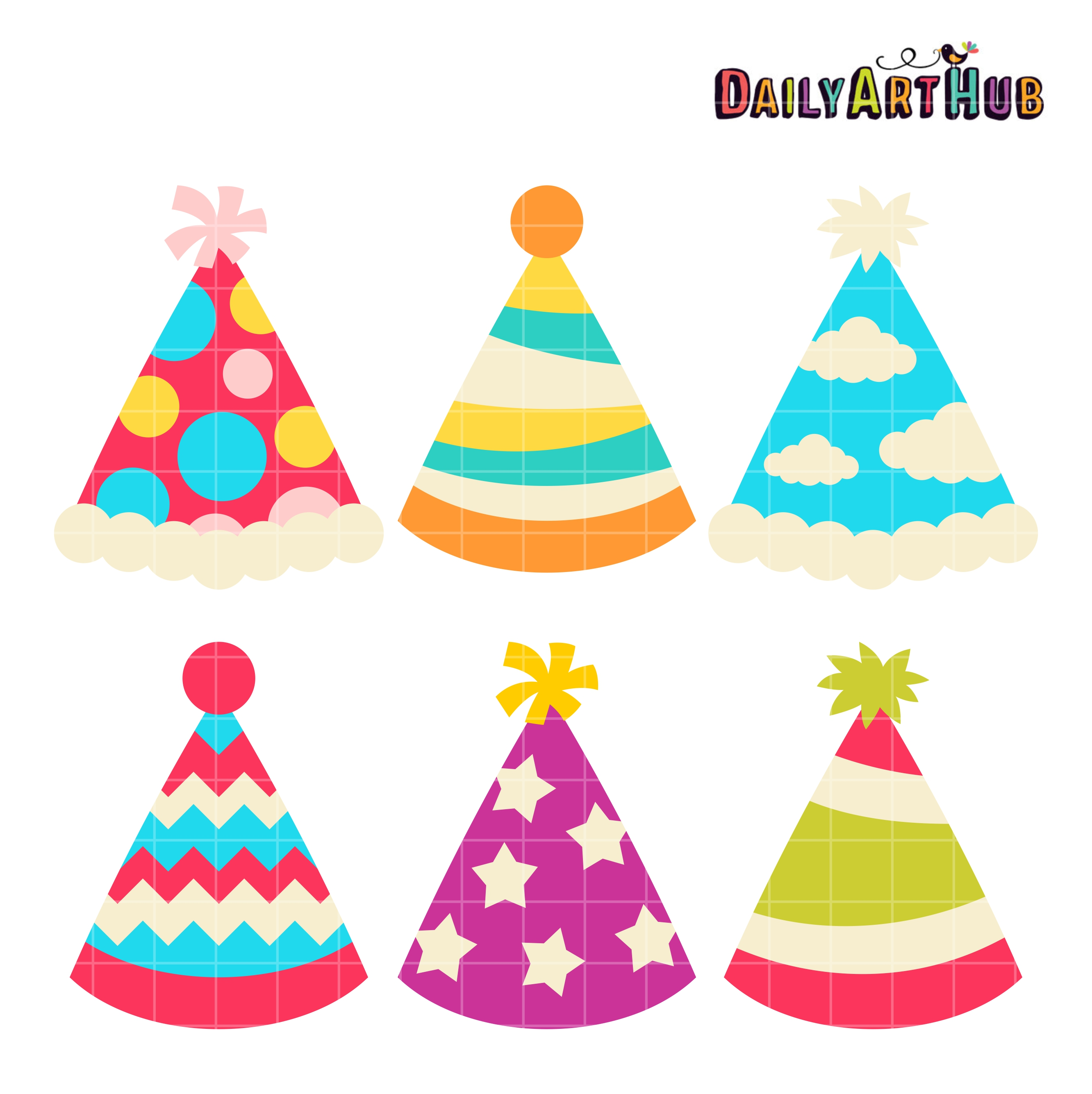 party hats clip art set daily art hub free clip art everyday rh dailyarthub com party hat clip art images party hat clipart png