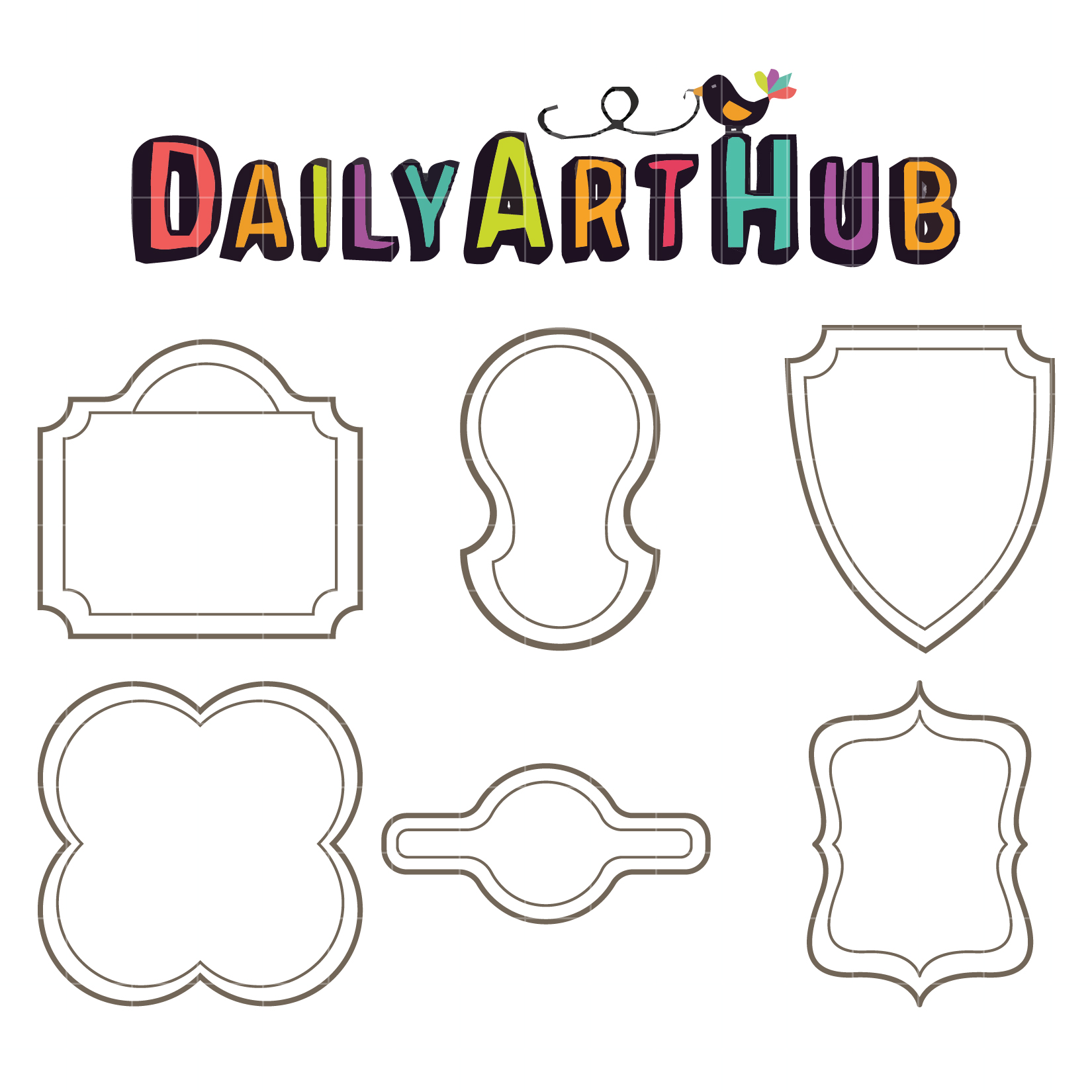 Simple Frames Clip Art Set – Daily Art Hub – Free Clip Art Everyday