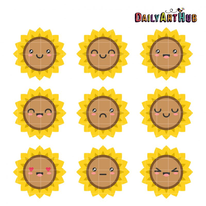Sunflower Cute Emotions