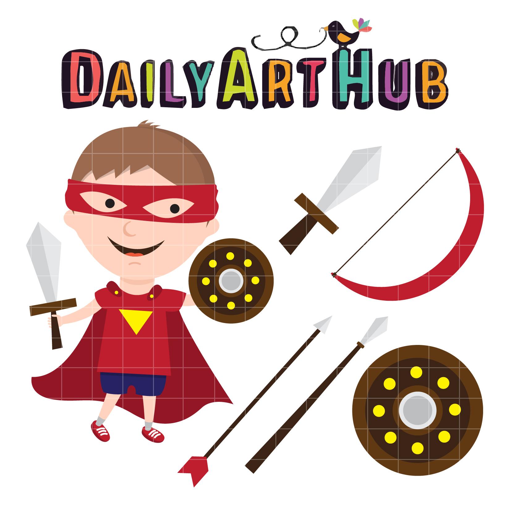 warrior kid clip art set daily art hub free clip art everyday rh dailyarthub com warrior clipart free clipart warrior head