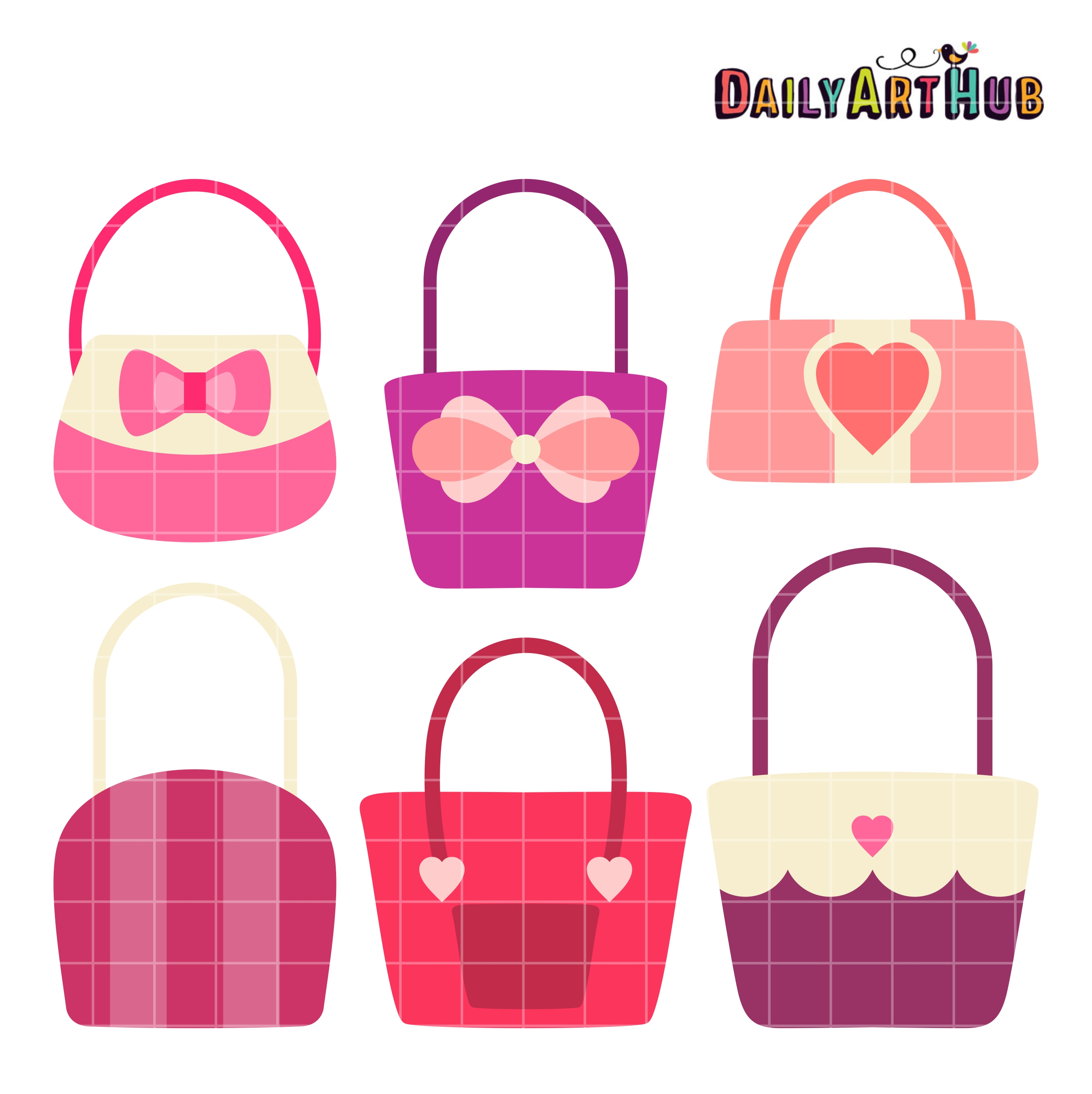 cute girly handbags clip art set daily art hub free clip art rh dailyarthub com Clutch Purse Clip Art Women's Purse Clip Art
